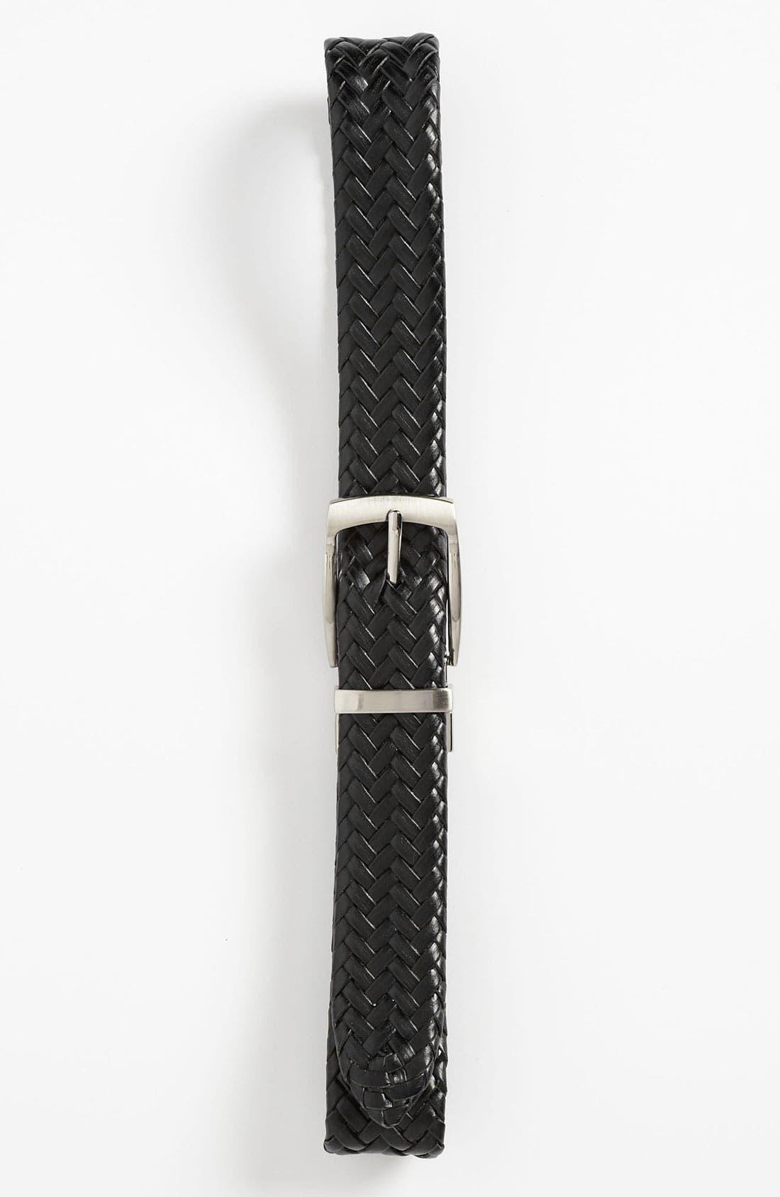 Alternate Image 2  - Joseph Abboud Reversible Braided Belt (Big Boys)