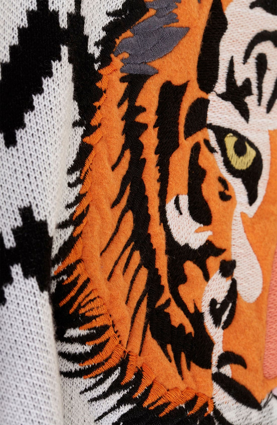 Alternate Image 3  - Topshop Embroidered Tiger Sweater