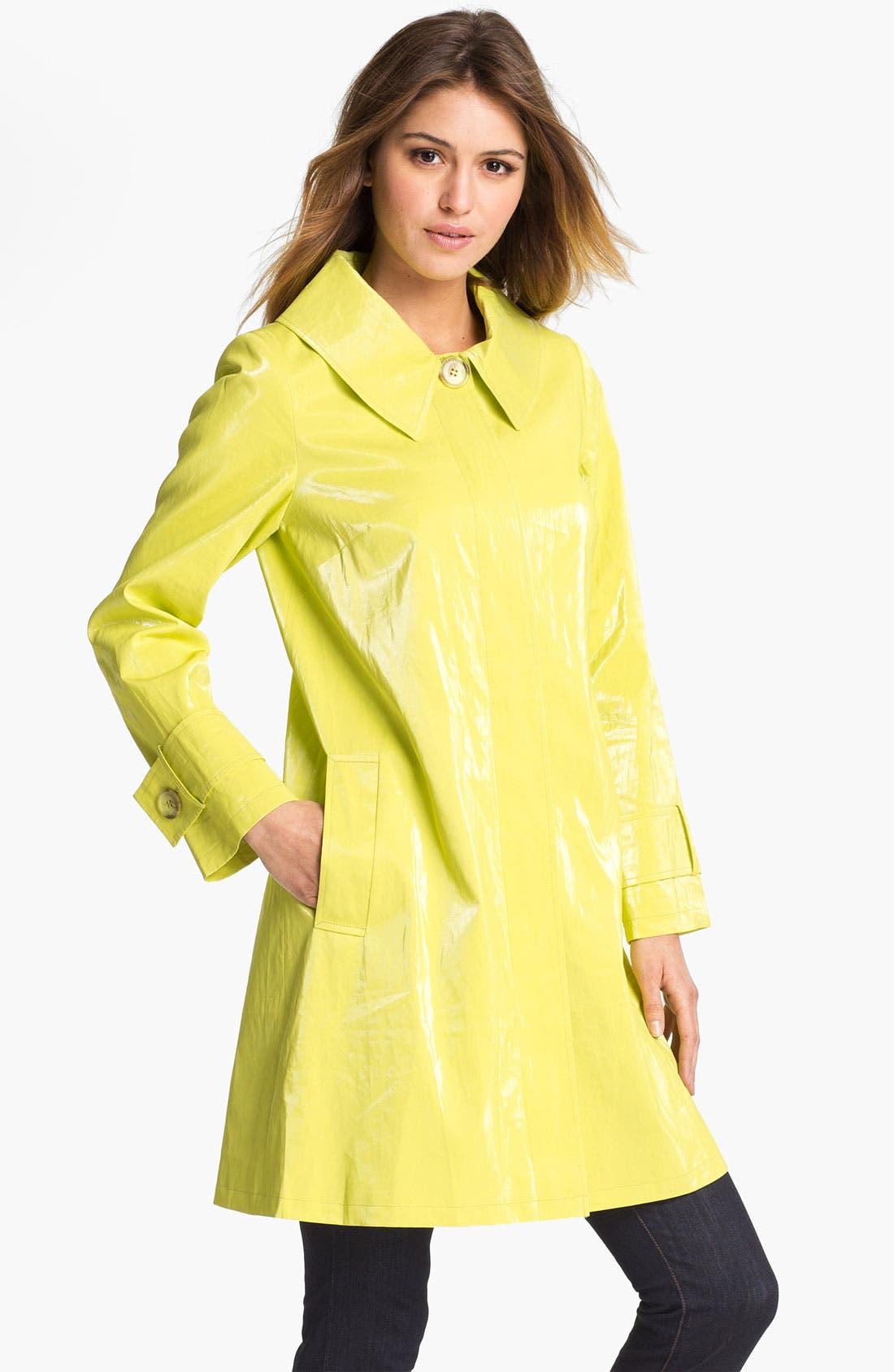 Alternate Image 1 Selected - Helene Berman 'Mod' Coated Linen Blend Coat