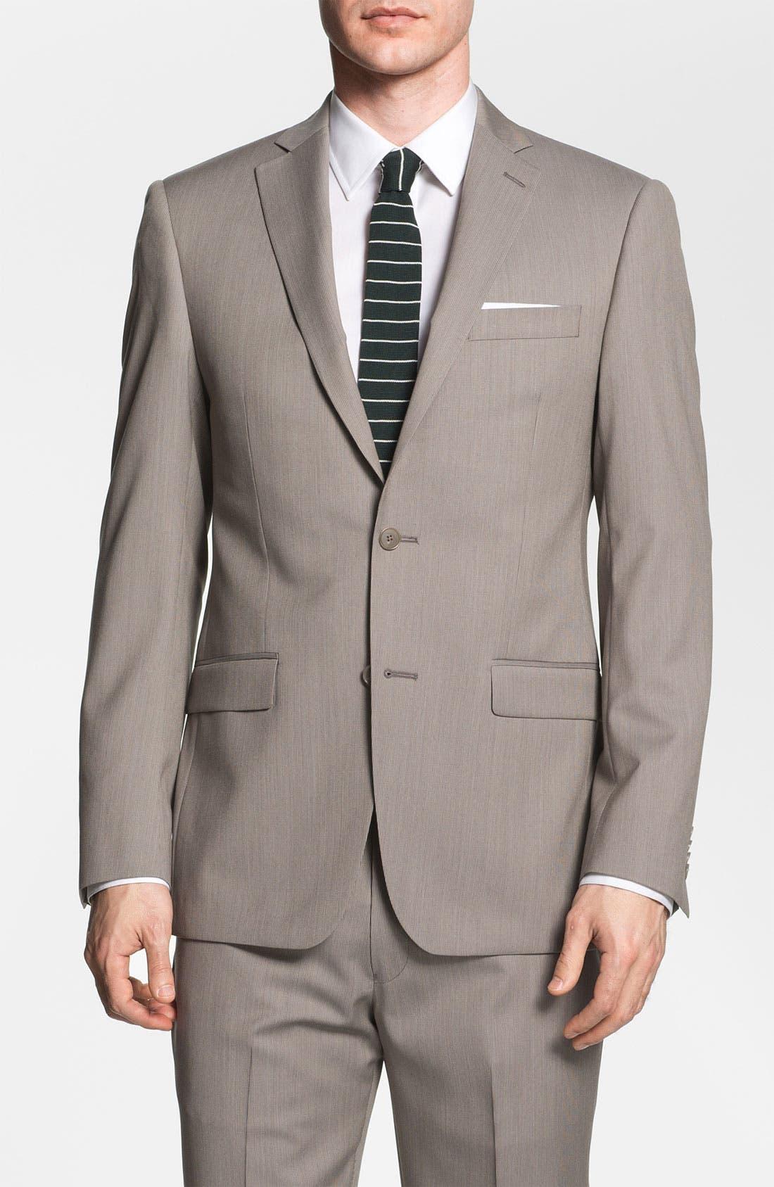 Main Image - Michael Kors Trim Fit Wool Suit