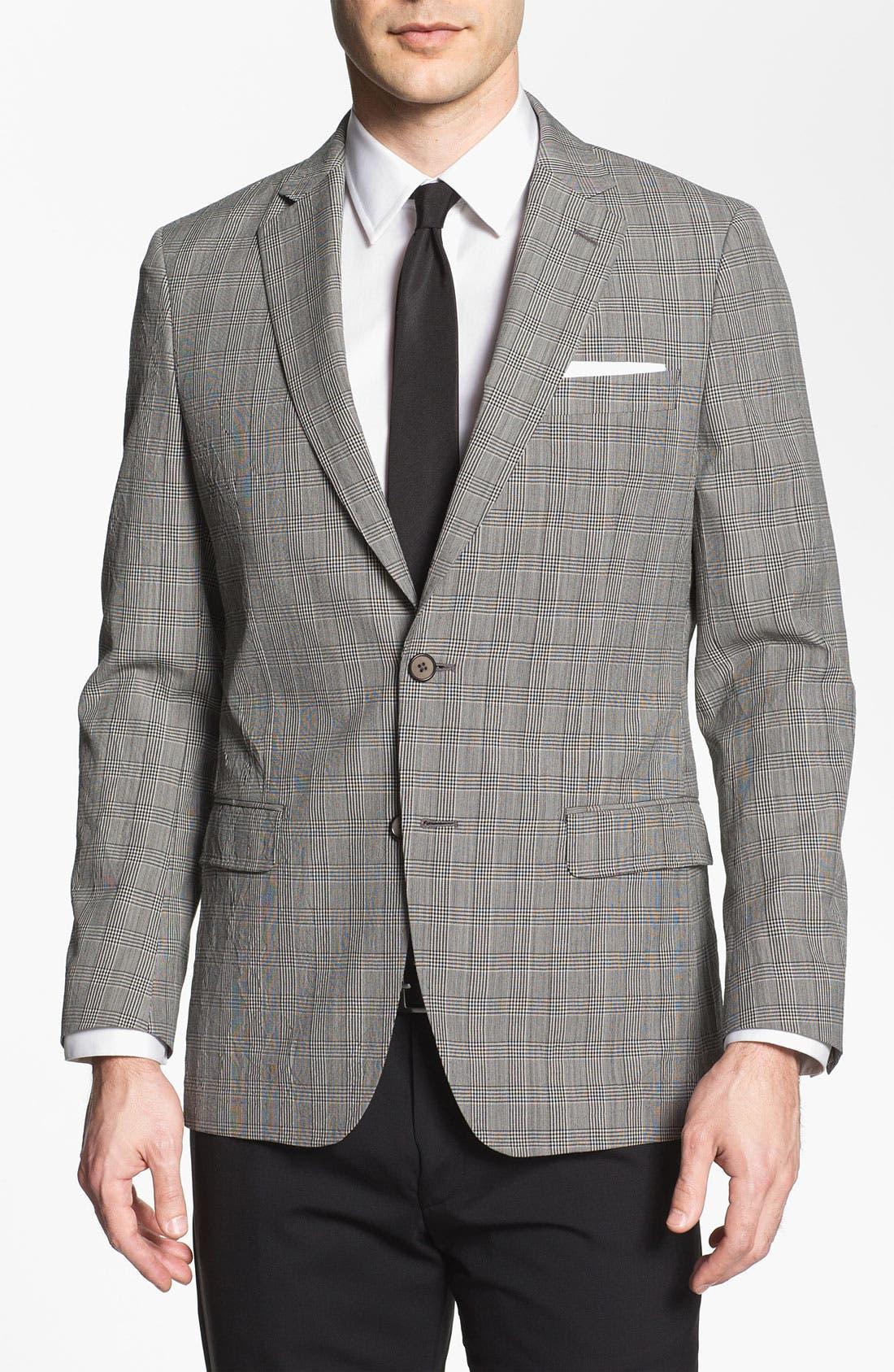 Main Image - Michael Kors Trim Fit Plaid Wool Sportcoat