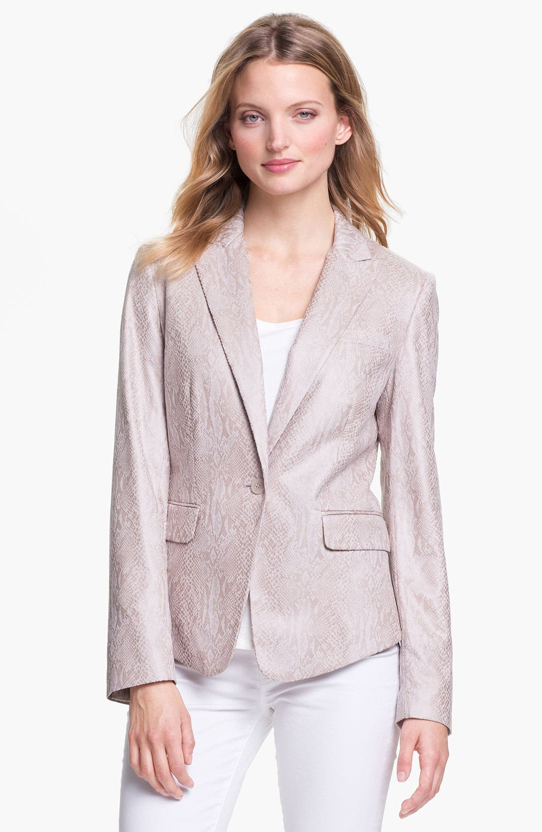 Alternate Image 1 Selected - Calvin Klein One Button Print Jacket