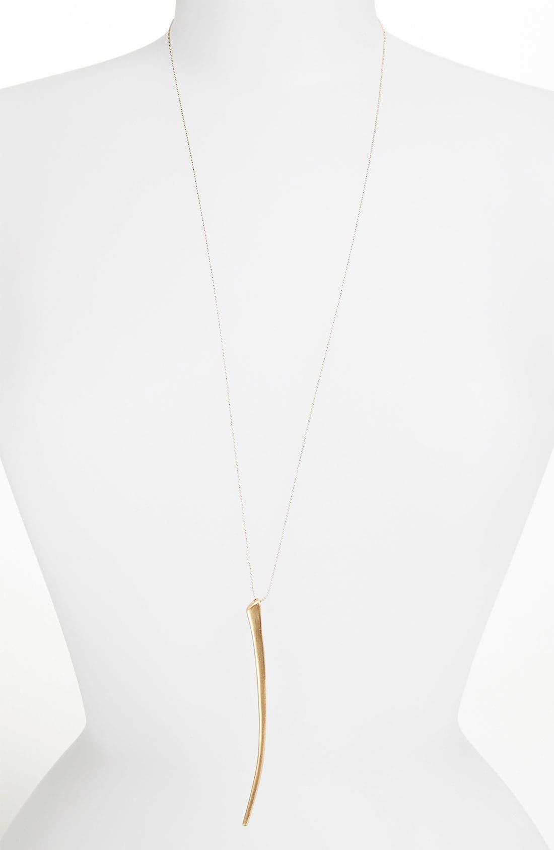 Main Image - Topshop 'Thin Tusk' Pendant Necklace