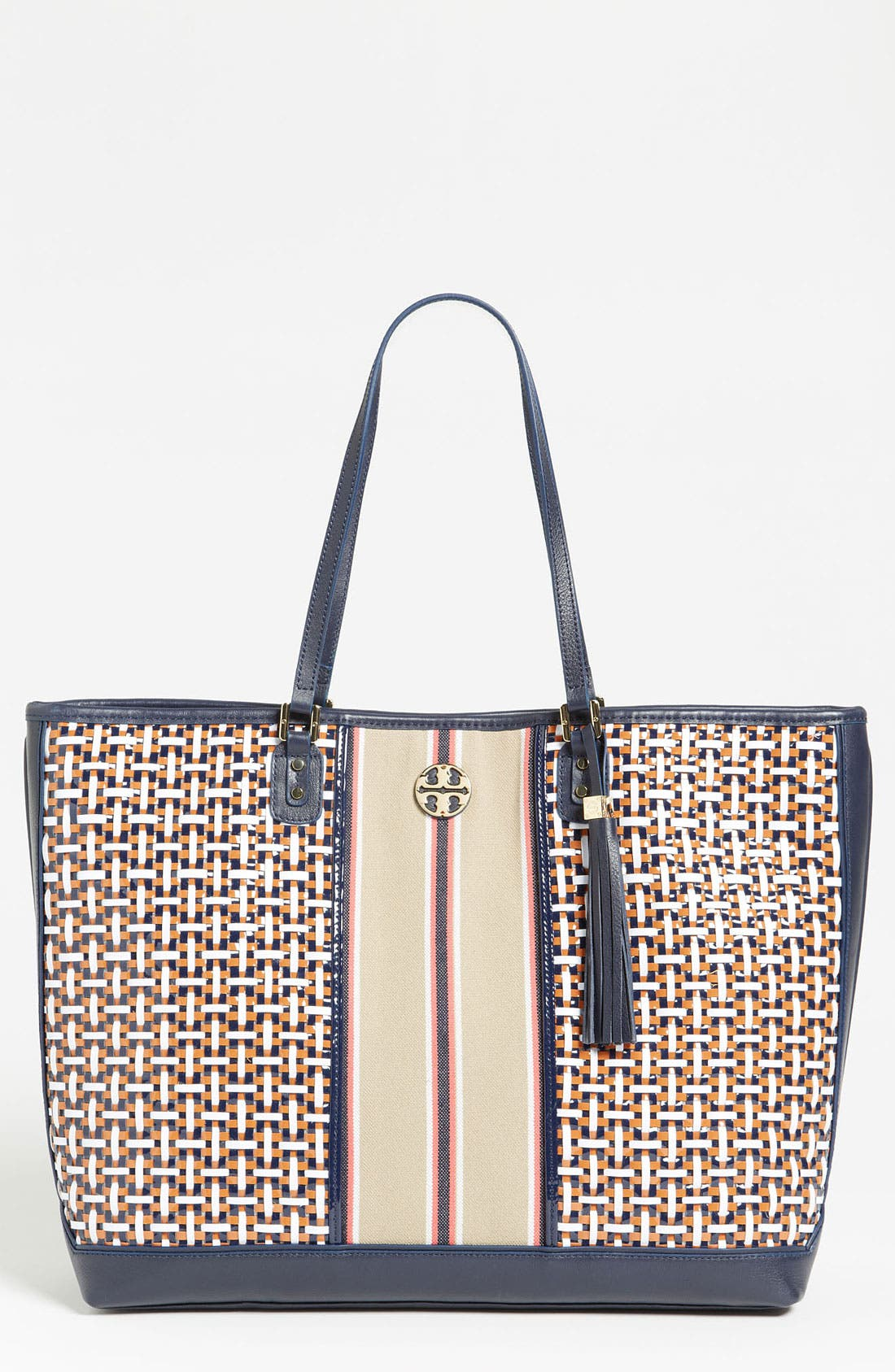 Alternate Image 1 Selected - Tory Burch 'Vintage Logo' Tote