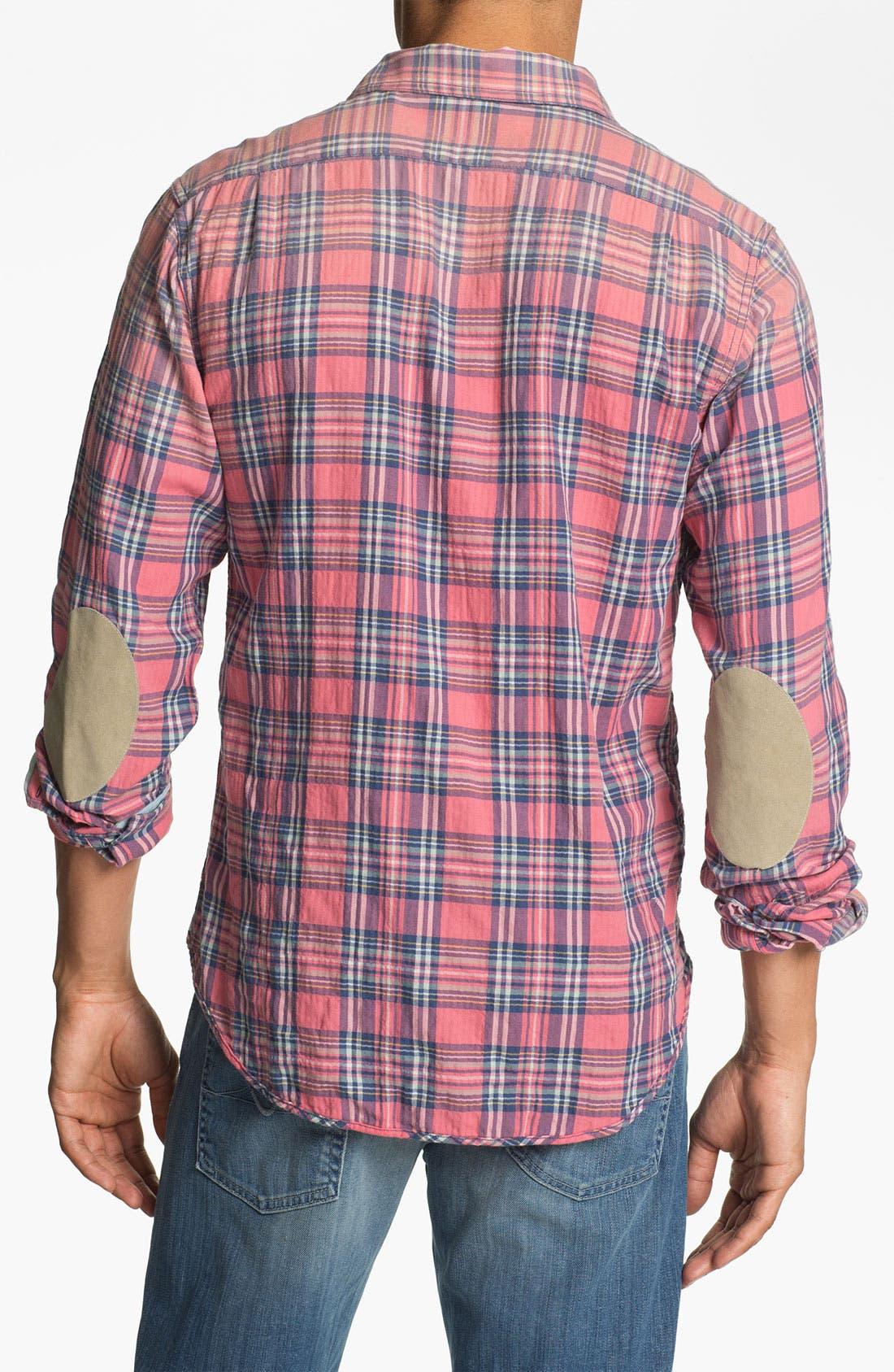 Alternate Image 3  - Scotch & Soda Herringbone Plaid Shirt