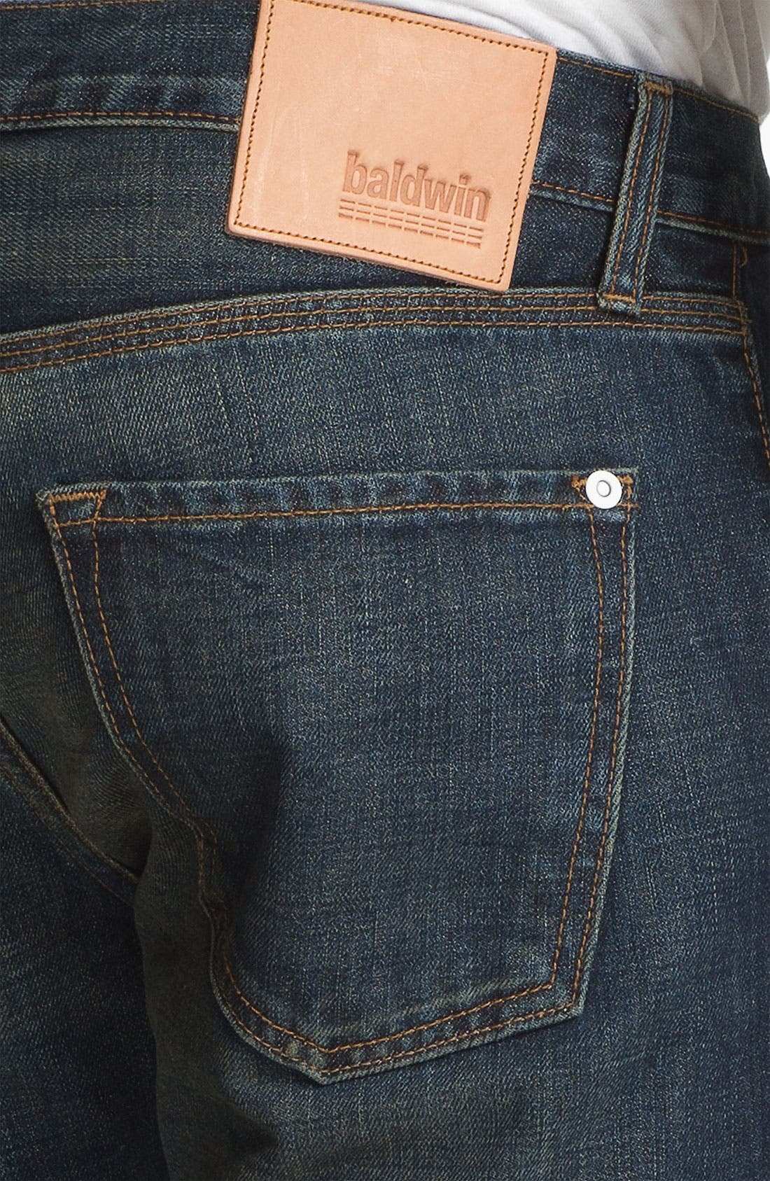 Alternate Image 4  - Baldwin 'Henley' Slim Tapered Leg Selvedge Jeans (Joshua)