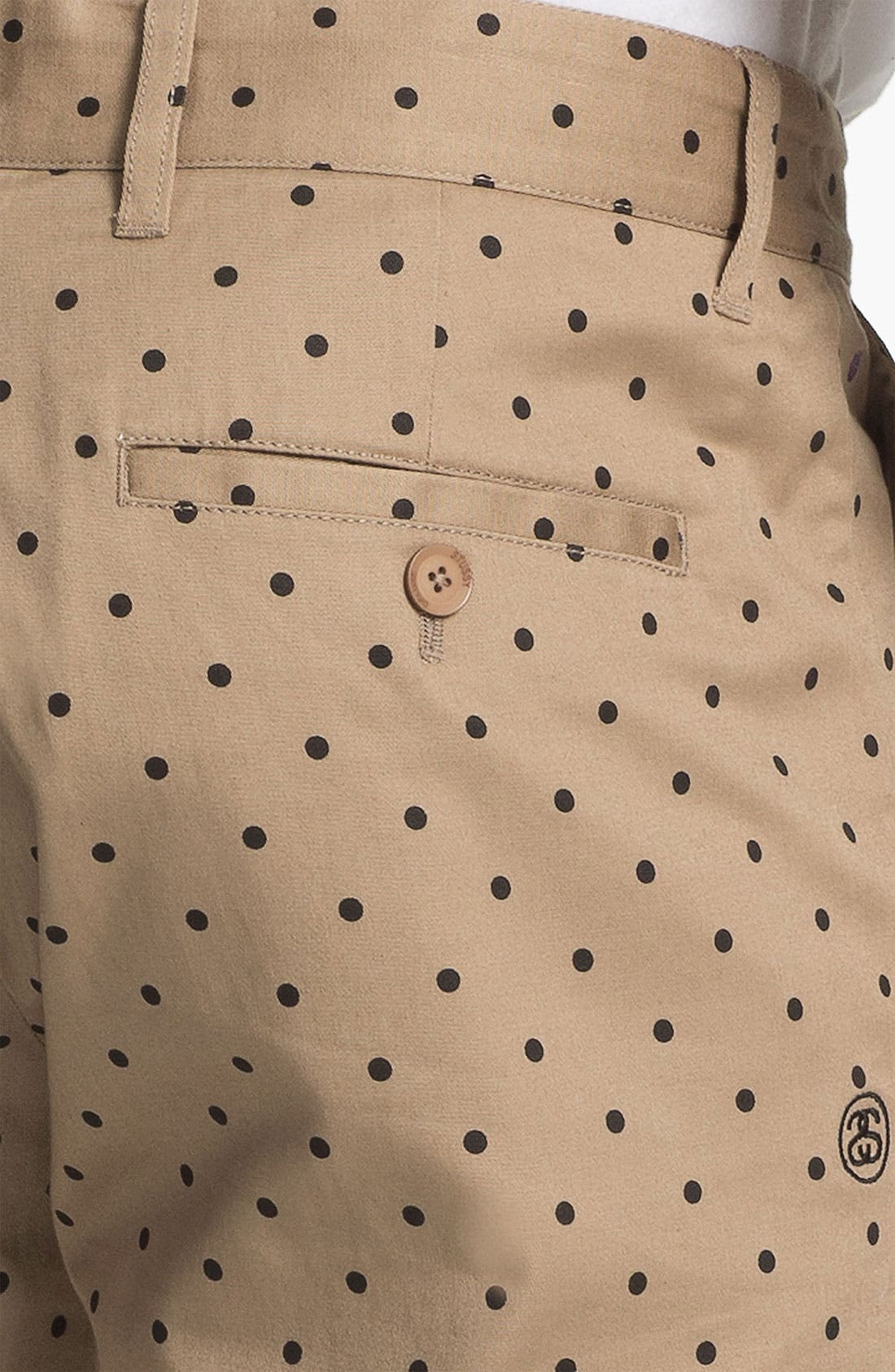 Alternate Image 3  - Stussy Deluxe 'Gramps' Polka Dot Shorts