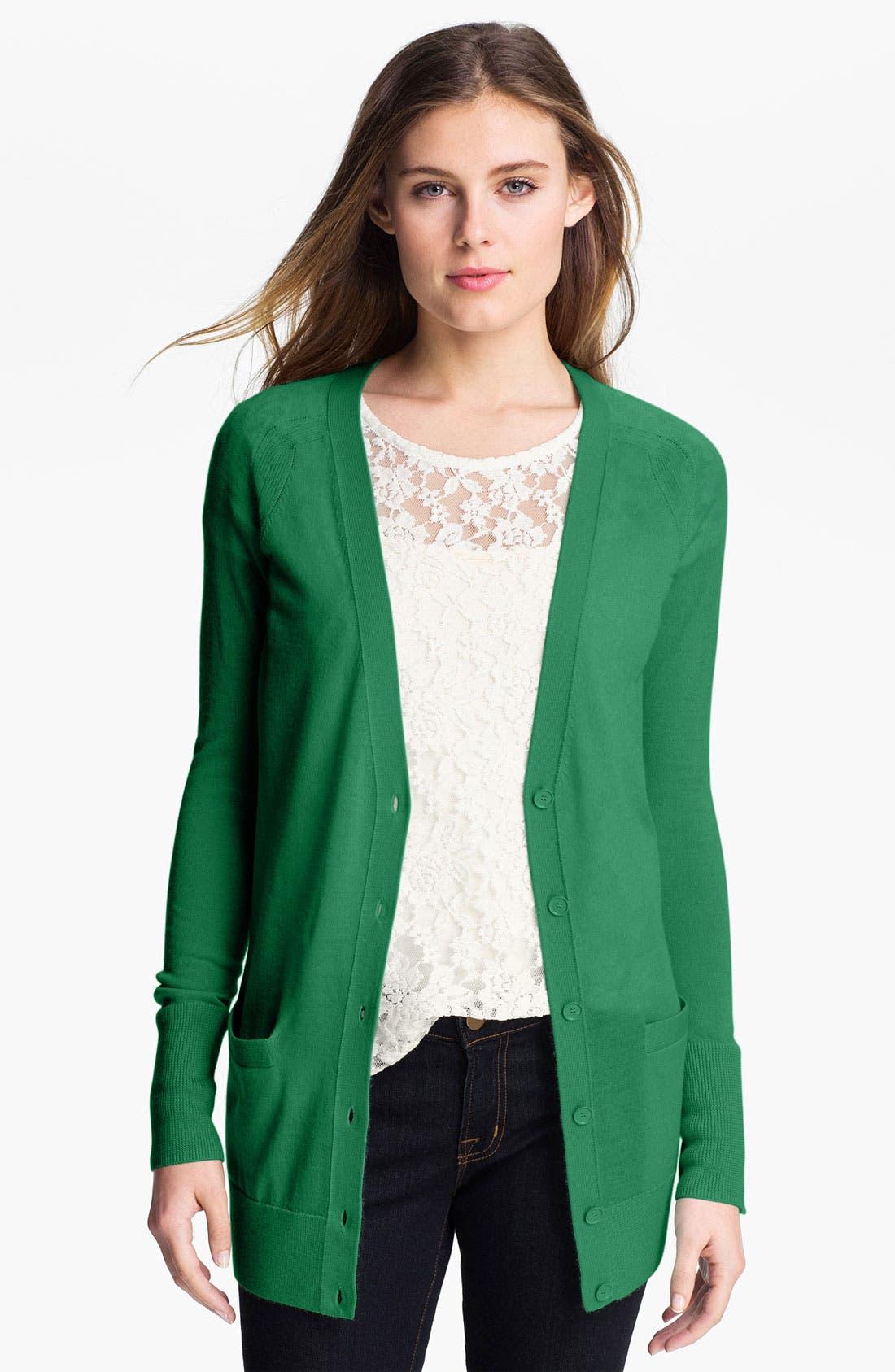Alternate Image 1 Selected - Halogen® Merino Wool Blend Cardigan