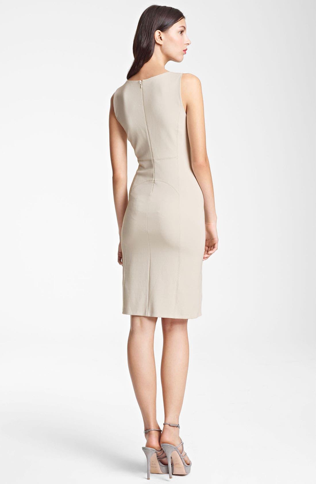 Alternate Image 2  - Armani Collezioni Seamed Jersey Dress