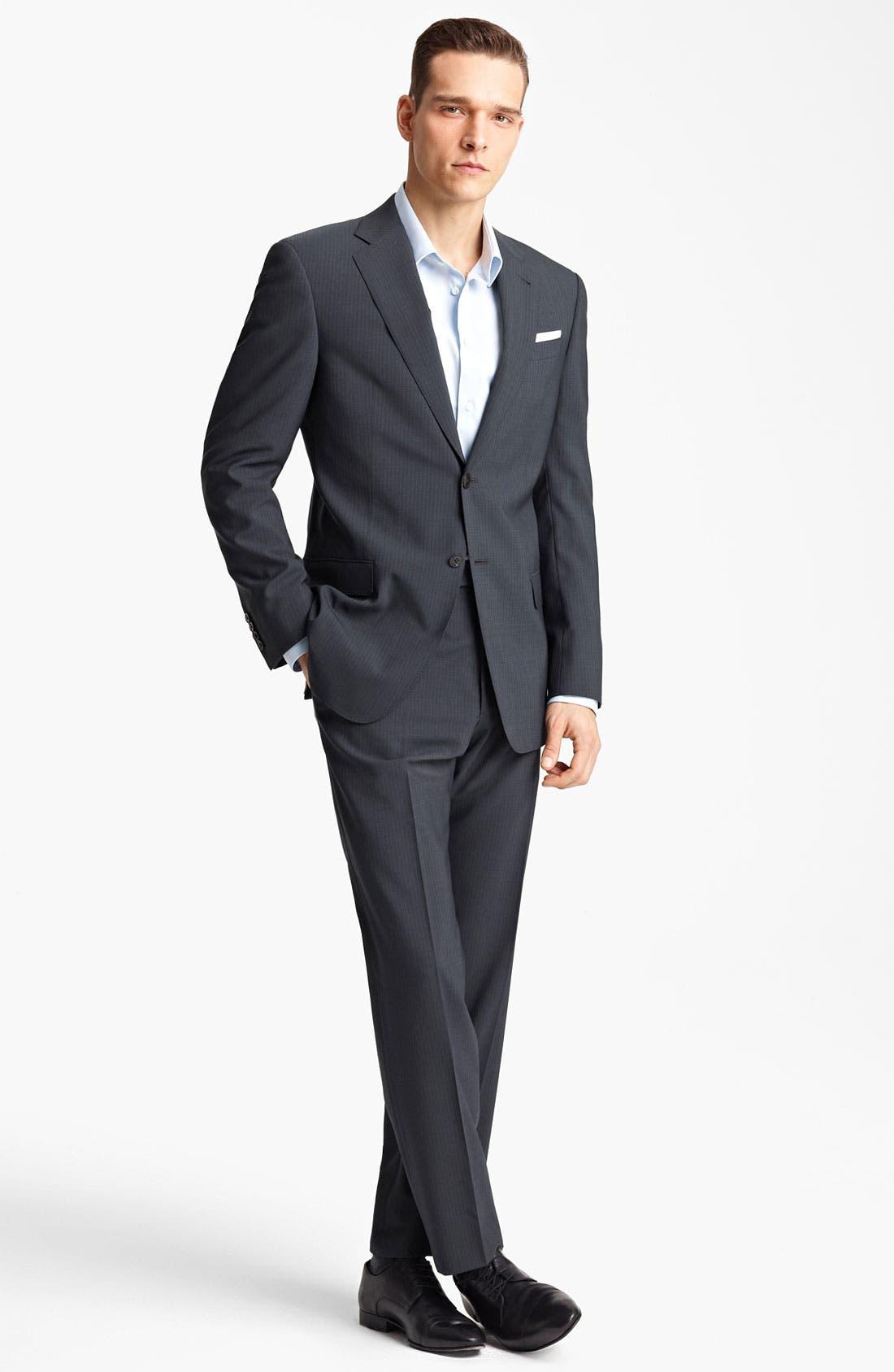Alternate Image 2  - Armani Collezioni 'Giorgio' Pinstripe Suit
