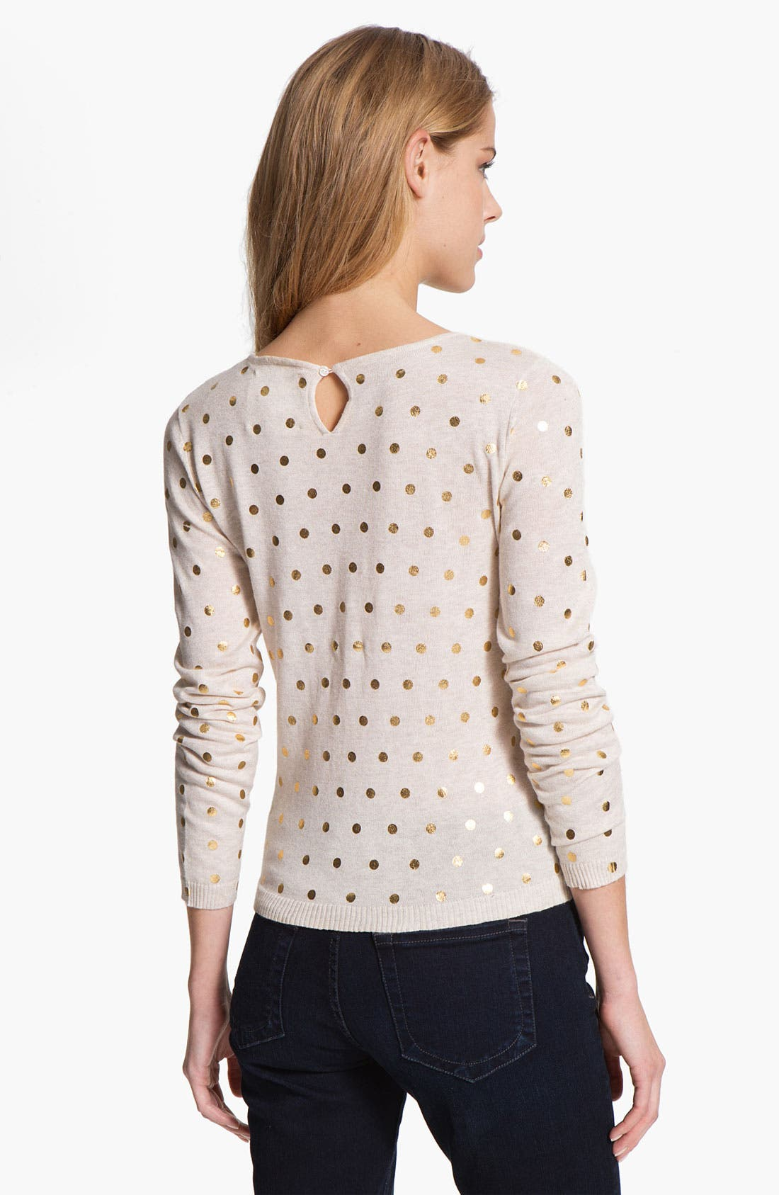 Alternate Image 2  - Kensie Dot Print Sweater