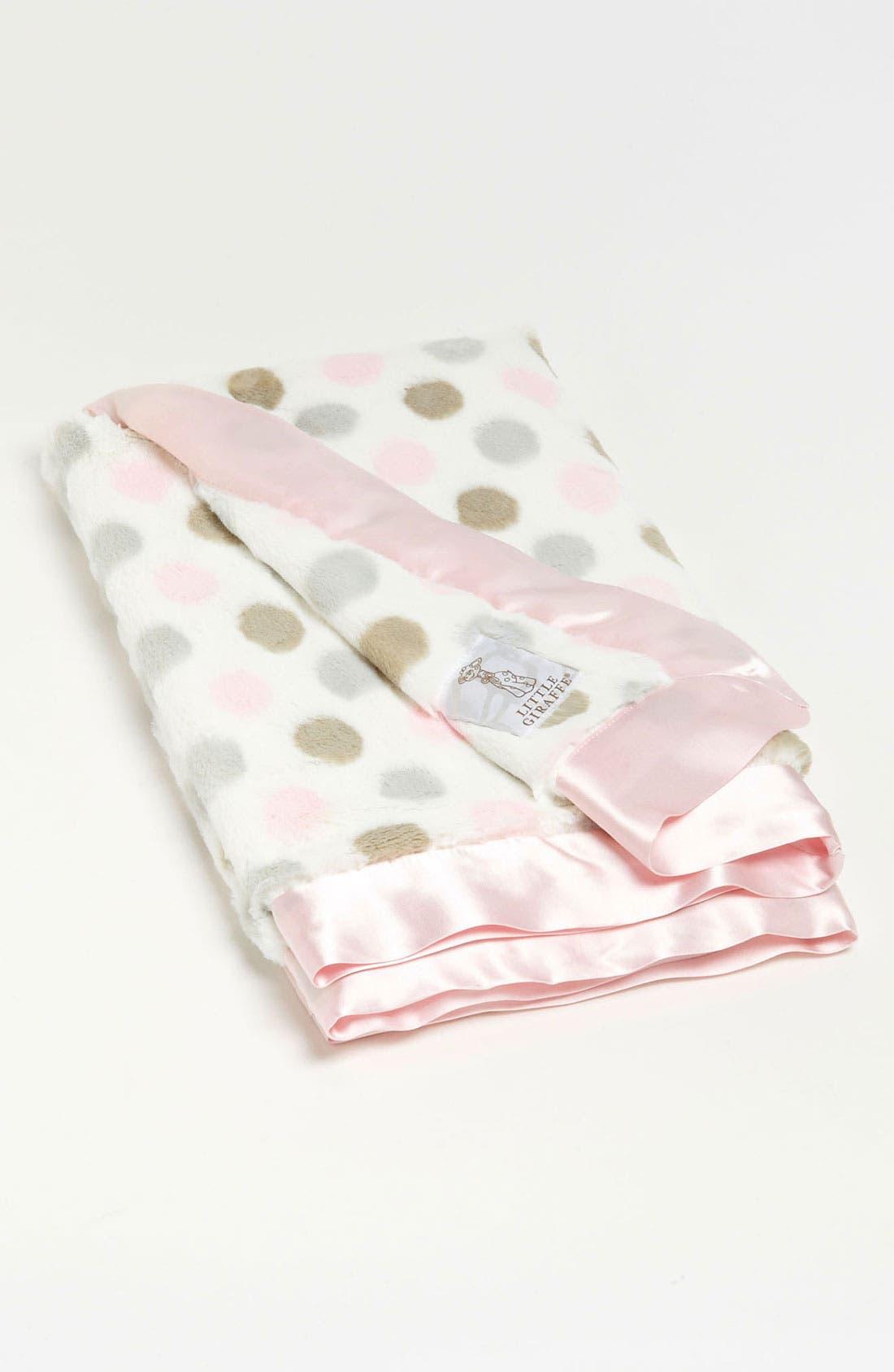 'Luxe Dot' Blanket,                             Alternate thumbnail 2, color,                             Pink