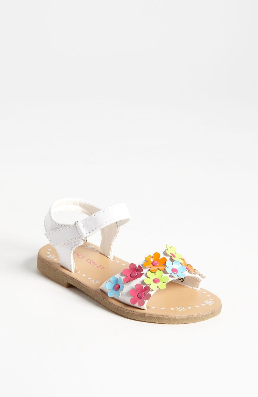 Alternate Image 1 Selected - Laura Ashley Flower Sandal (Walker & Toddler)