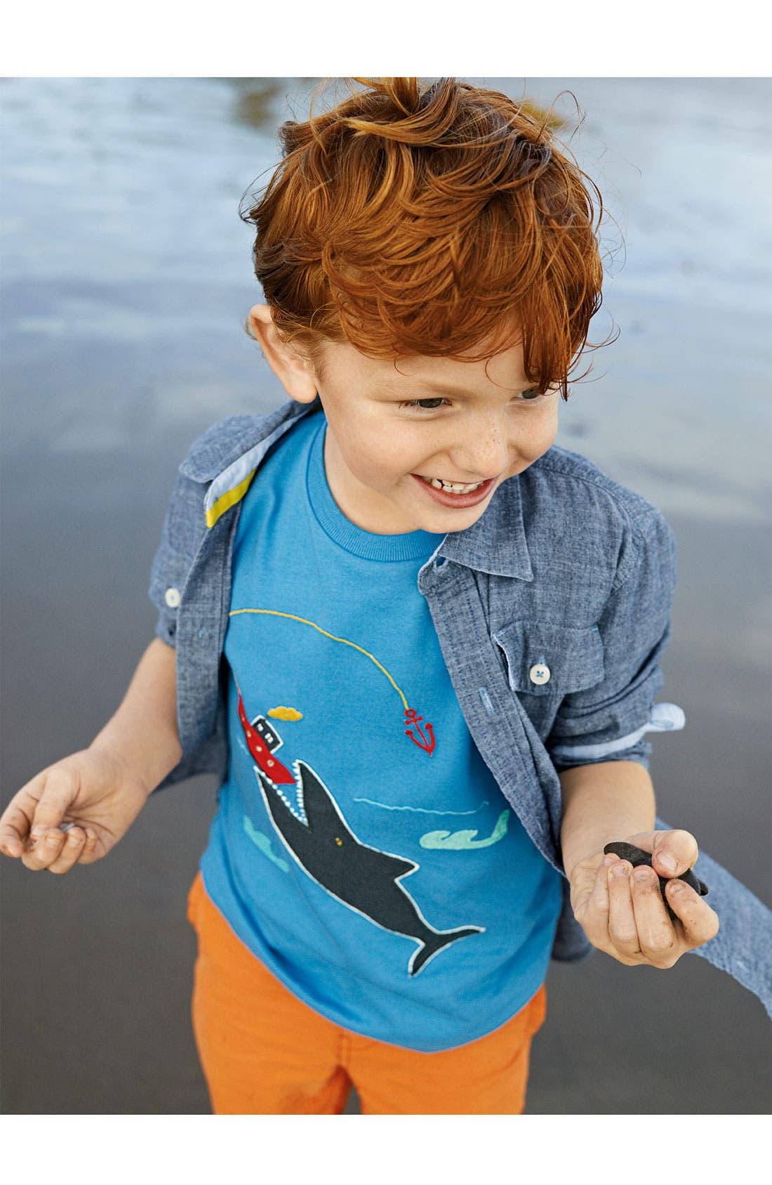 Alternate Image 1 Selected - Mini Boden T-Shirt, Woven Shirt & Chinos (Toddler, Little Boys & Big Boys)