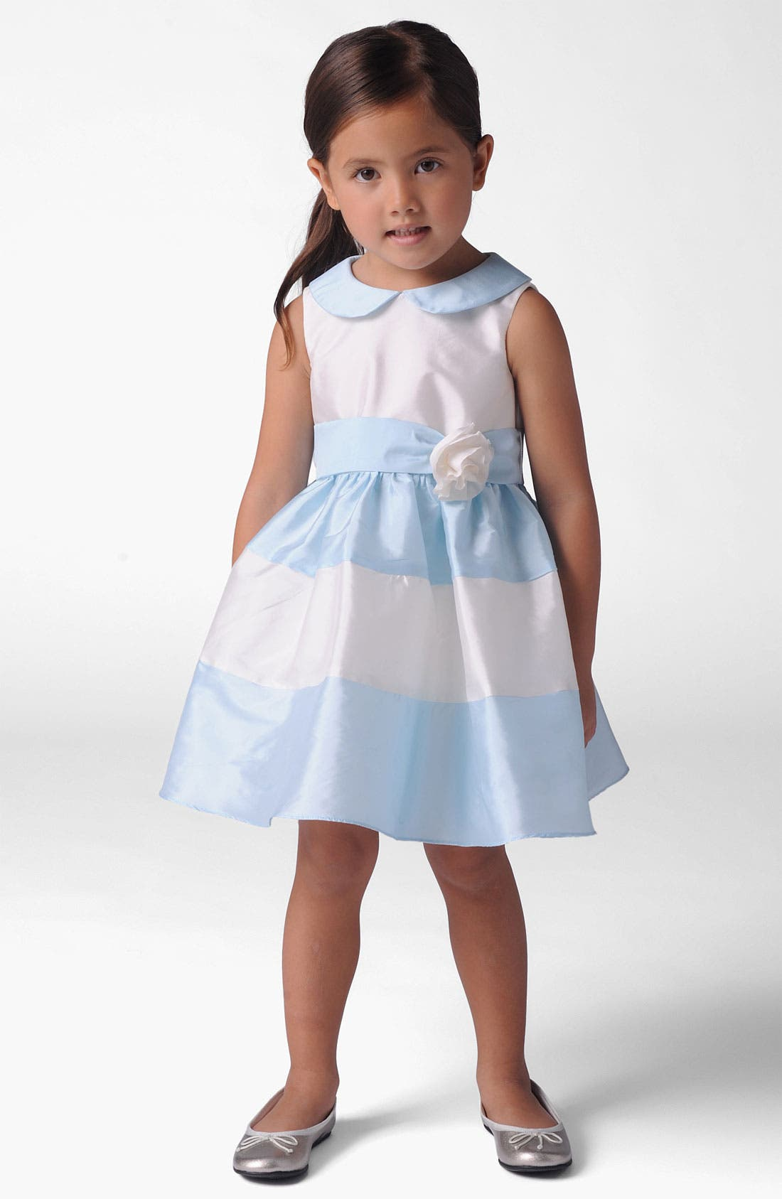 Main Image - Us Angels Peter Pan Collar Dress (Little Girls)