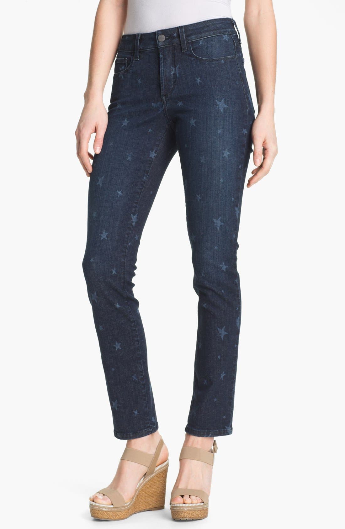 Alternate Image 1 Selected - NYDJ 'Sheri' Star Print Skinny Jeans