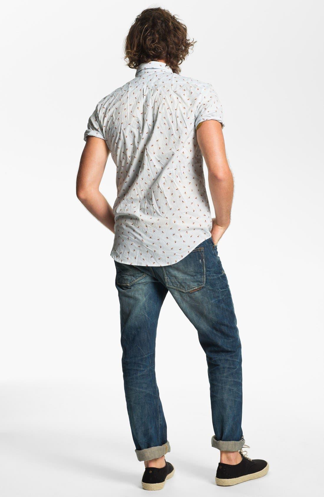 Alternate Image 5  - RVCA 'Avalon' Slim Fit Short Sleeve Sport Shirt