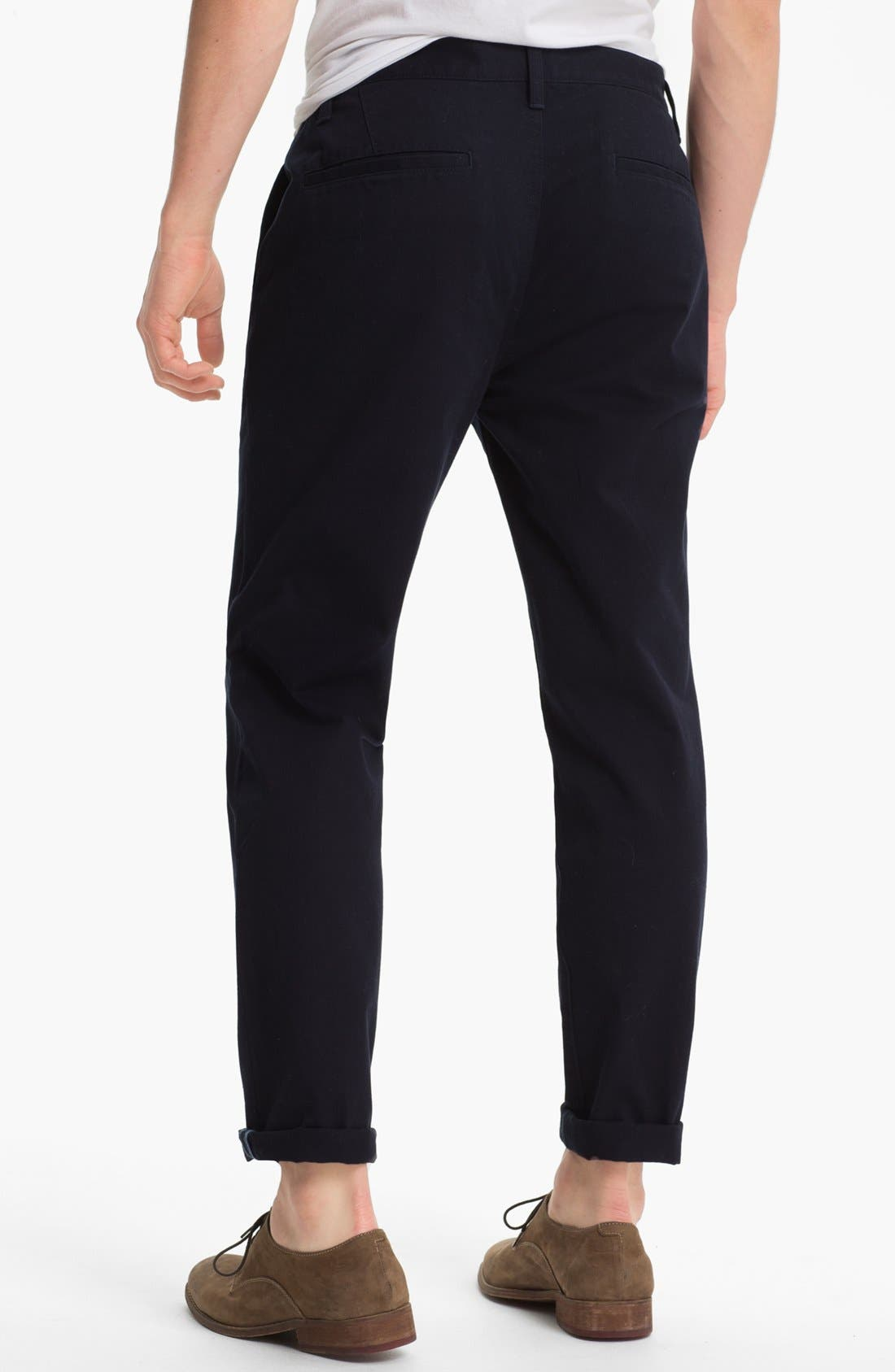 Alternate Image 2  - Topman Slim Fit Cotton Chinos