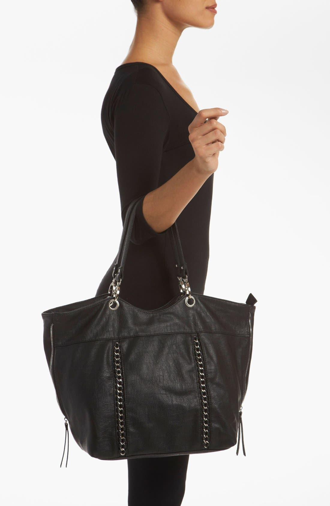 Alternate Image 2  - Cesca Chain Trim Expandable Tote (Online Exclusive)