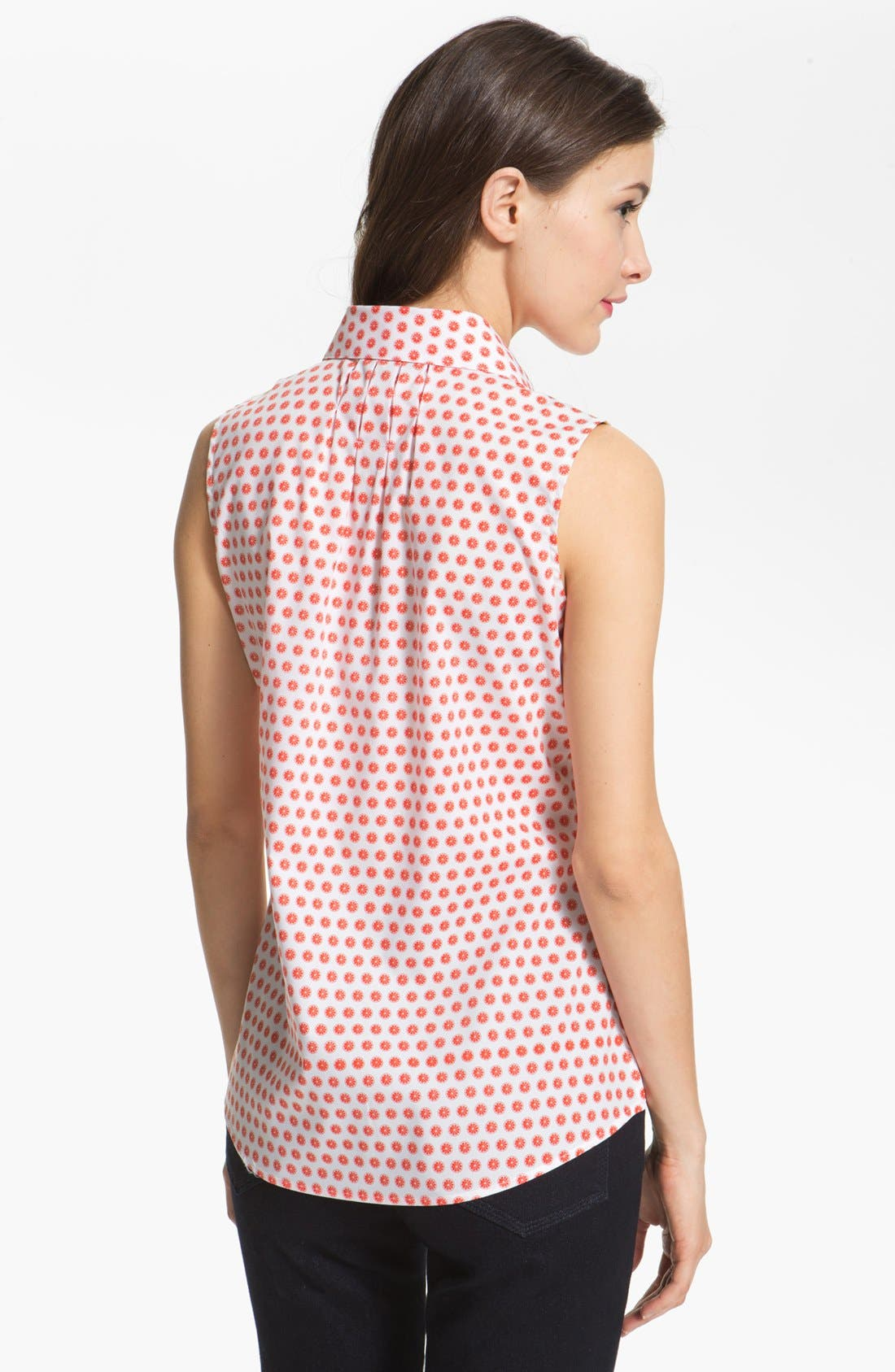 Alternate Image 2  - Foxcroft 'Citrus Dot' Sleeveless Shirt (Petite)