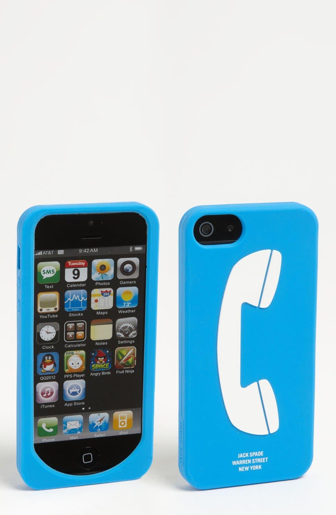 Alternate Image 1 Selected - Jack Spade 'Payphone' iPhone 5 Case