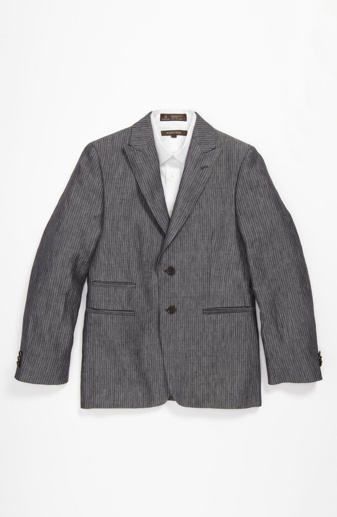Alternate Image 1 Selected - John Varvatos Star USA Stripe Linen Sportcoat