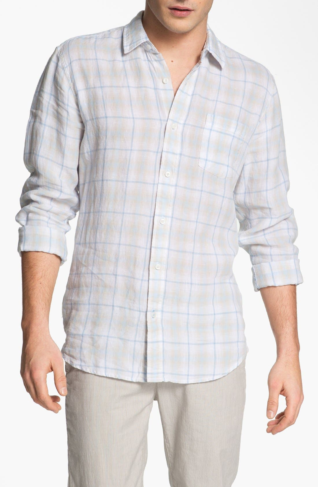 Alternate Image 1 Selected - Toscano Linen Sport Shirt