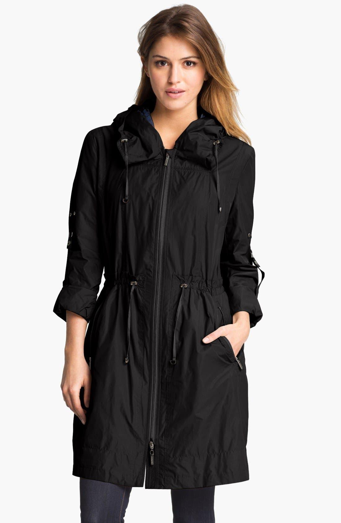 Alternate Image 1 Selected - RAINFOREST Packable Hooded Raincoat