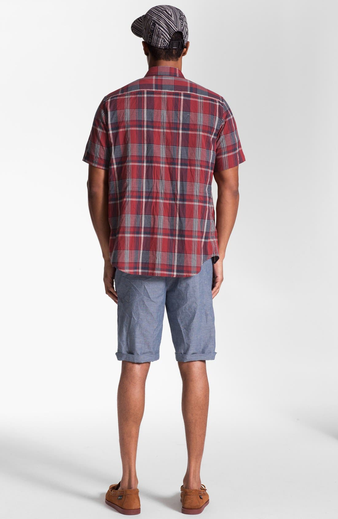 'Eastport' Nep Shorts,                             Alternate thumbnail 4, color,                             Blue Multi