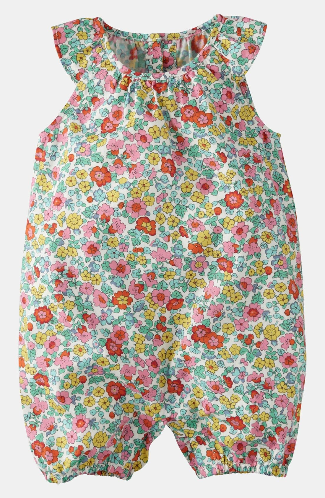 Alternate Image 1 Selected - Mini Boden 'Pretty Playsuit' Coveralls (Baby)