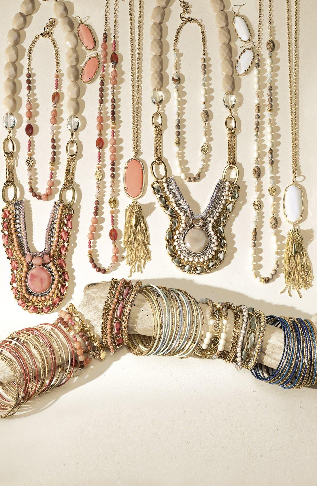 Alternate Image 2  - Nordstrom 'Pebbles' Beaded Stretch Bracelets (Set of 3)