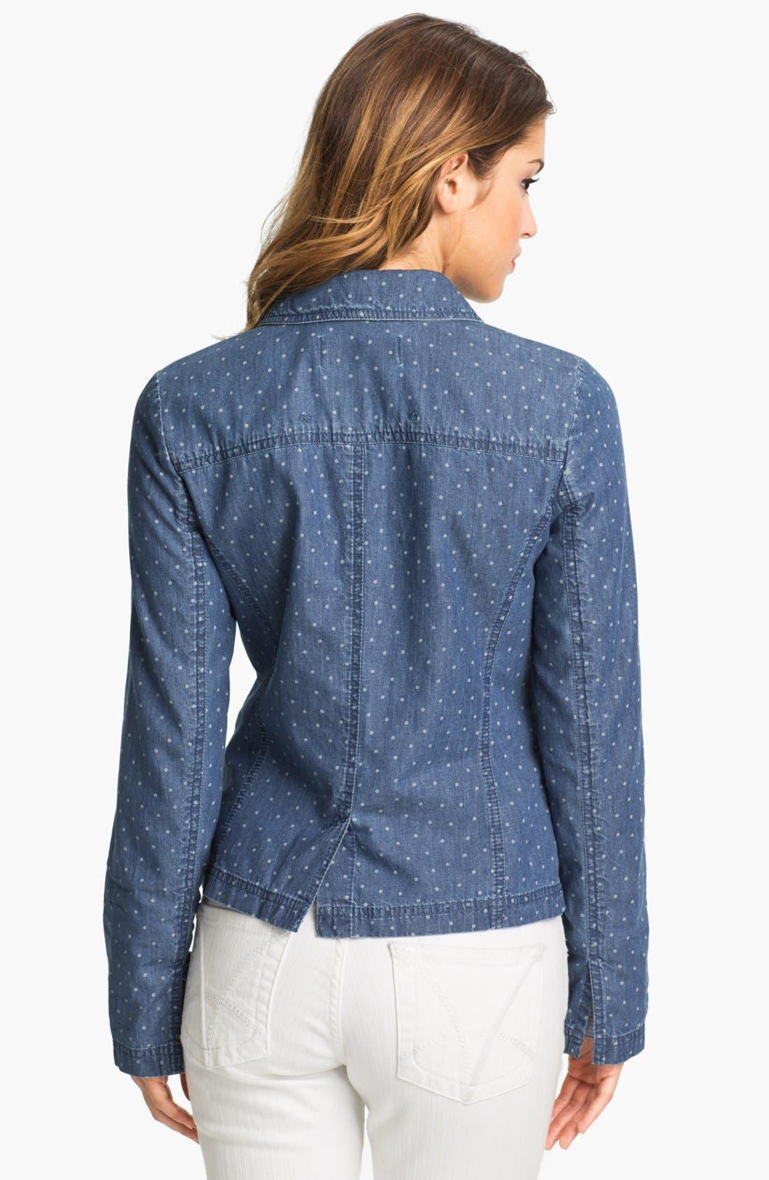 Alternate Image 2  - Caslon® Dot Print Jacket (Petite)