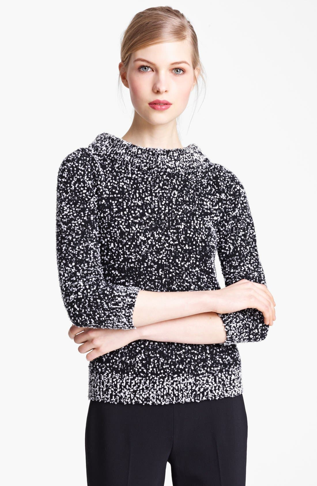 Alternate Image 1 Selected - Michael Kors Tweed Bouclé Pullover