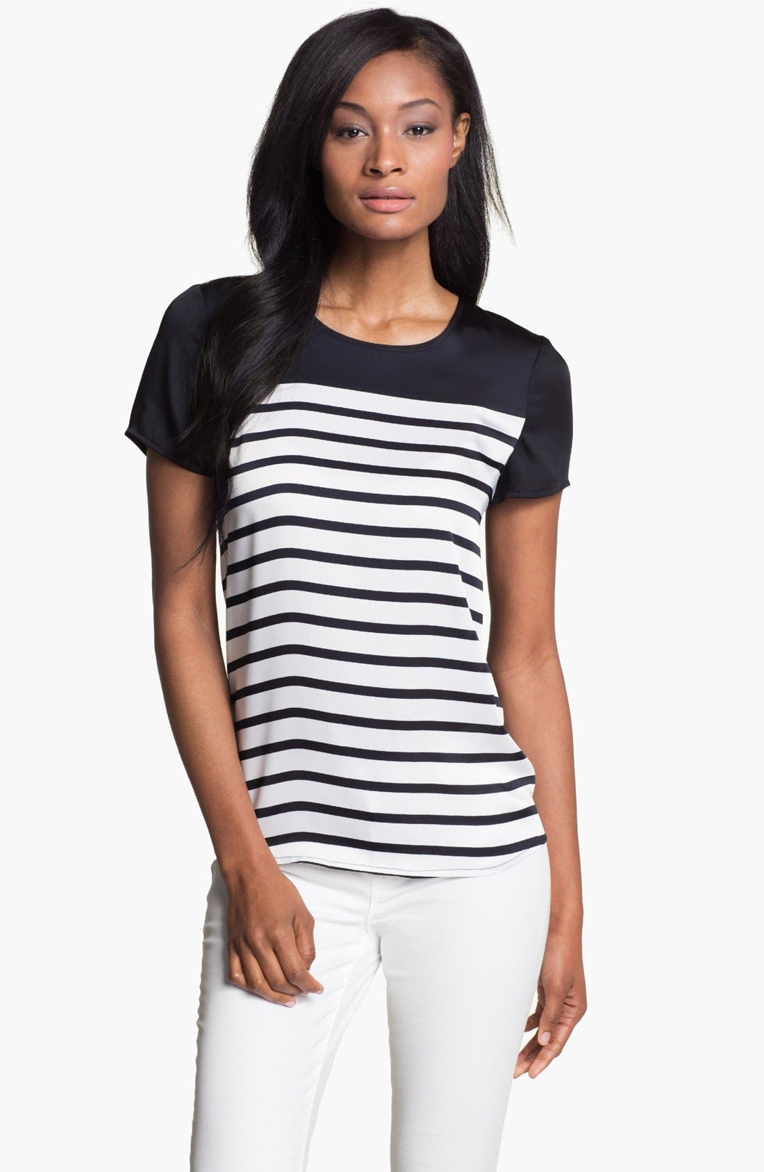 Alternate Image 1 Selected - MICHAEL Michael Kors Stripe Top