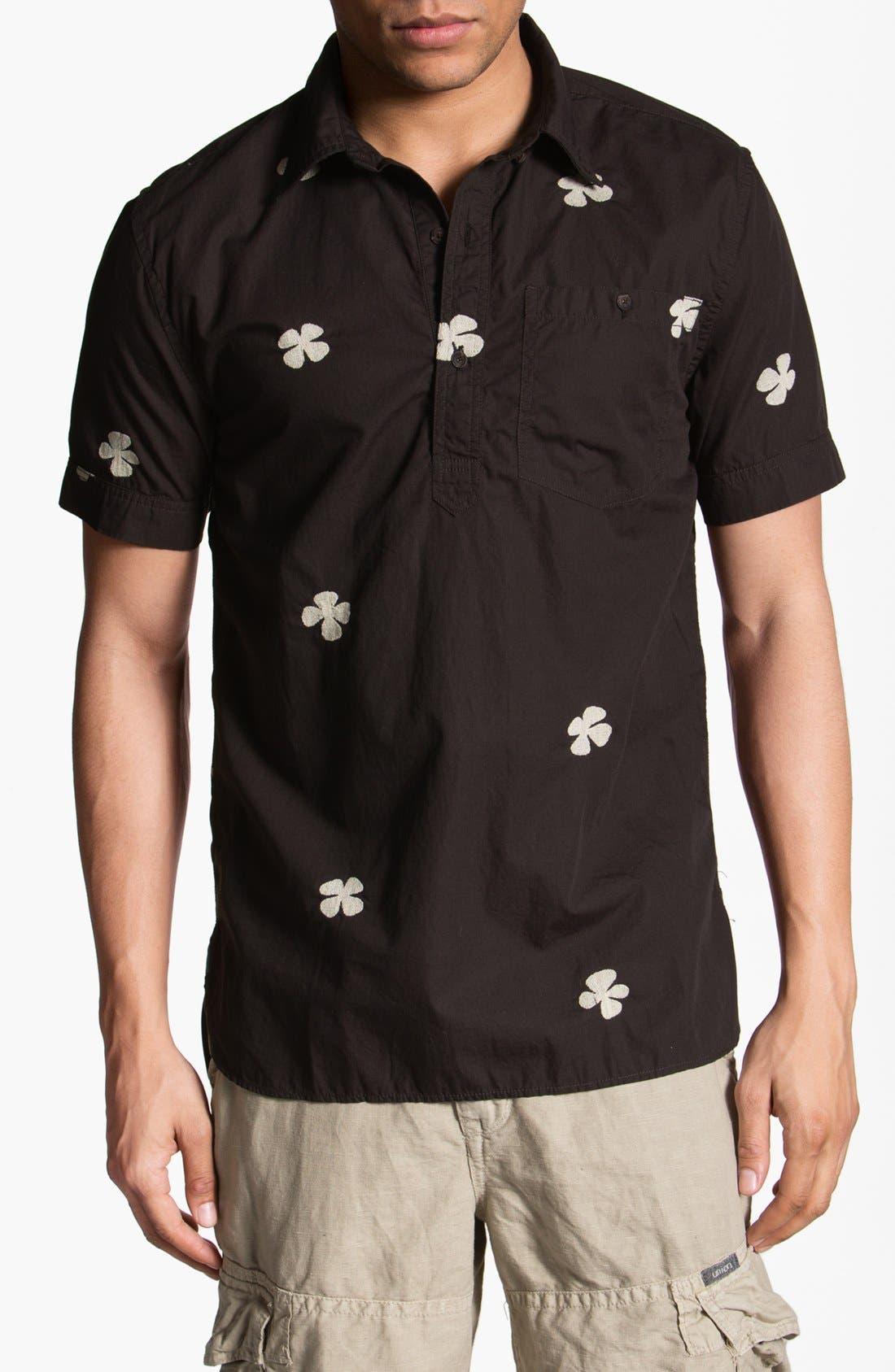 Alternate Image 1 Selected - Burkman Bros Short Sleeve Pullover Woven Shirt