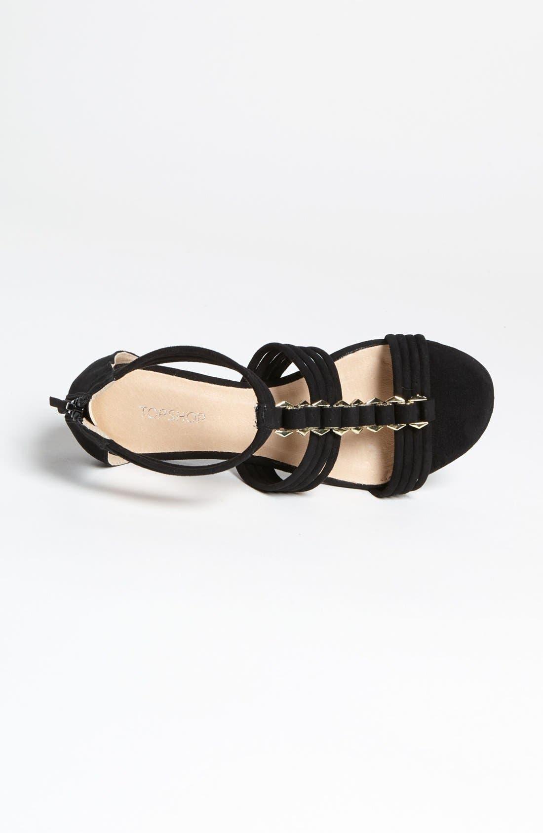 Alternate Image 3  - Topshop 'Helena' Metal Trim Sandal