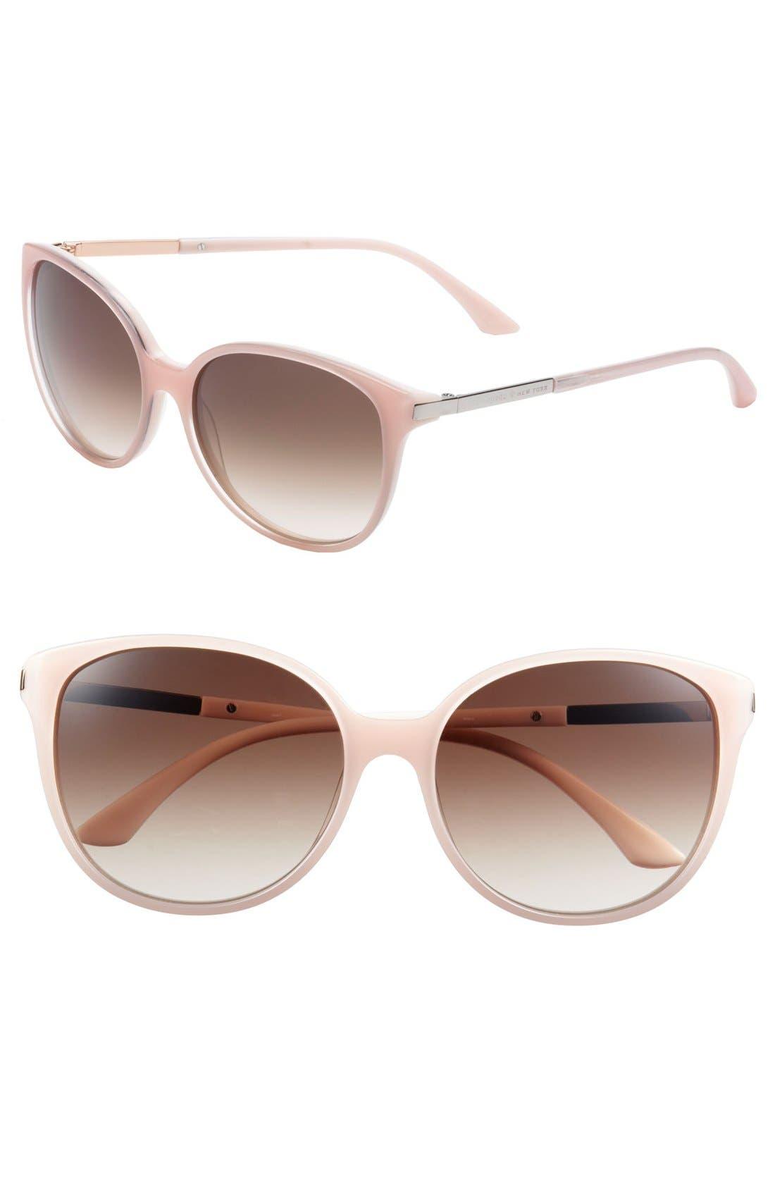 'shawna' 56mm sunglasses,                             Main thumbnail 1, color,                             Pale Peach