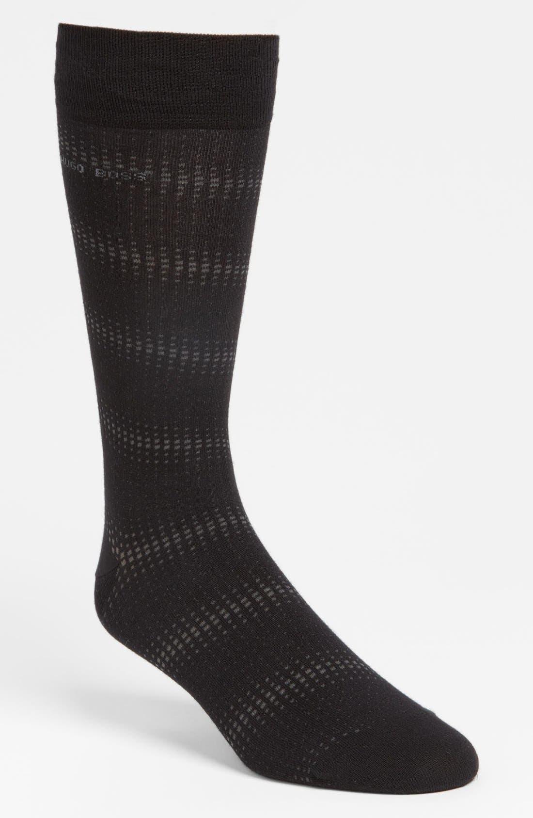Alternate Image 1 Selected - BOSS Black Cotton Blend Socks