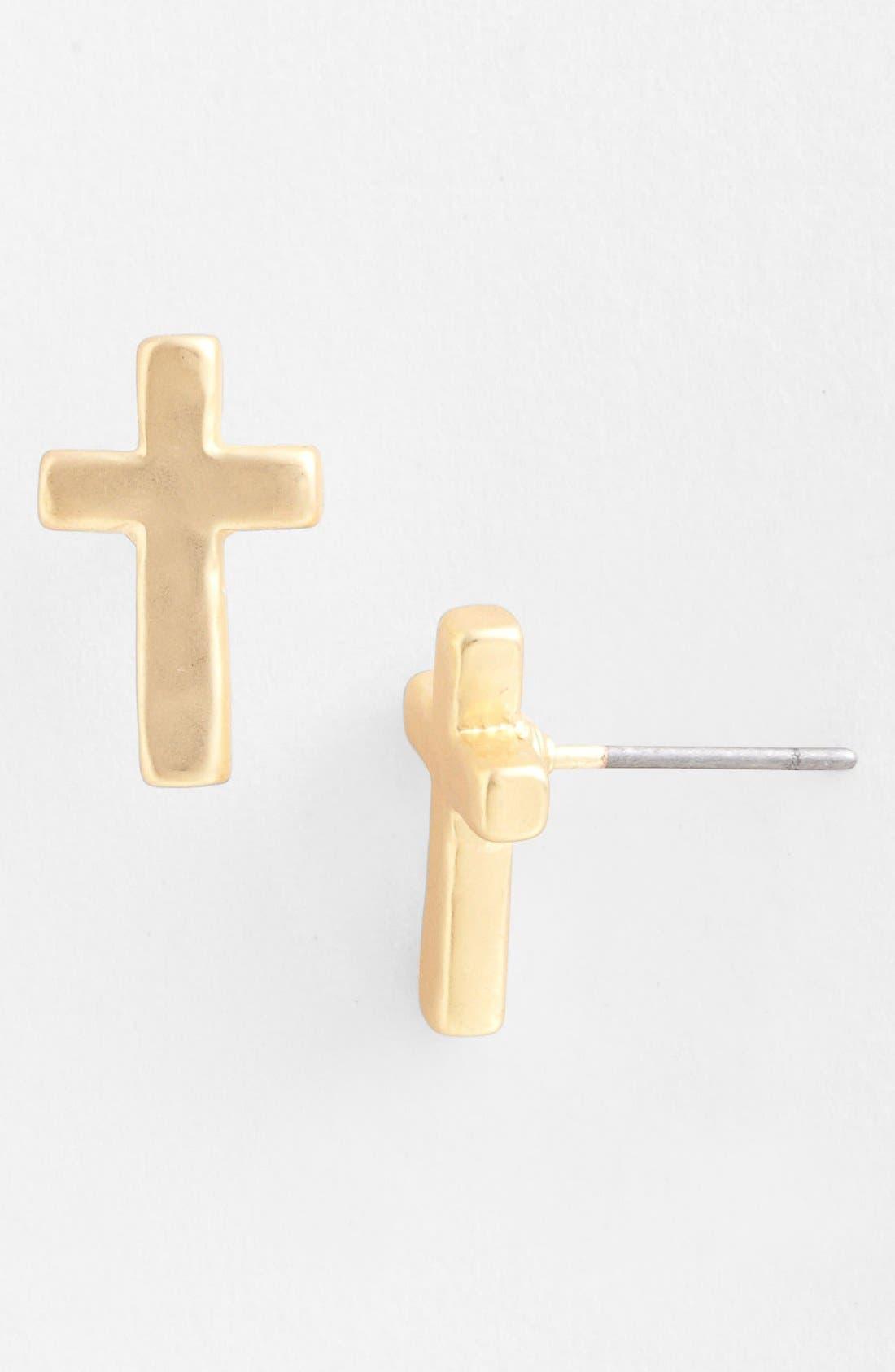 Alternate Image 1 Selected - Nordstrom 'Azteca - Cross' Stud Earrings