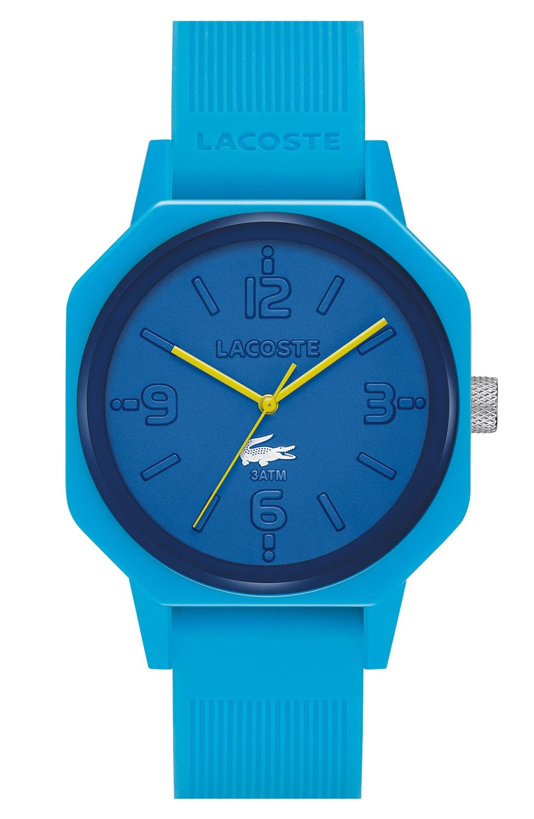 Alternate Image 1 Selected - Lacoste '80th Anniversary' Silicone Strap Watch, 42mm