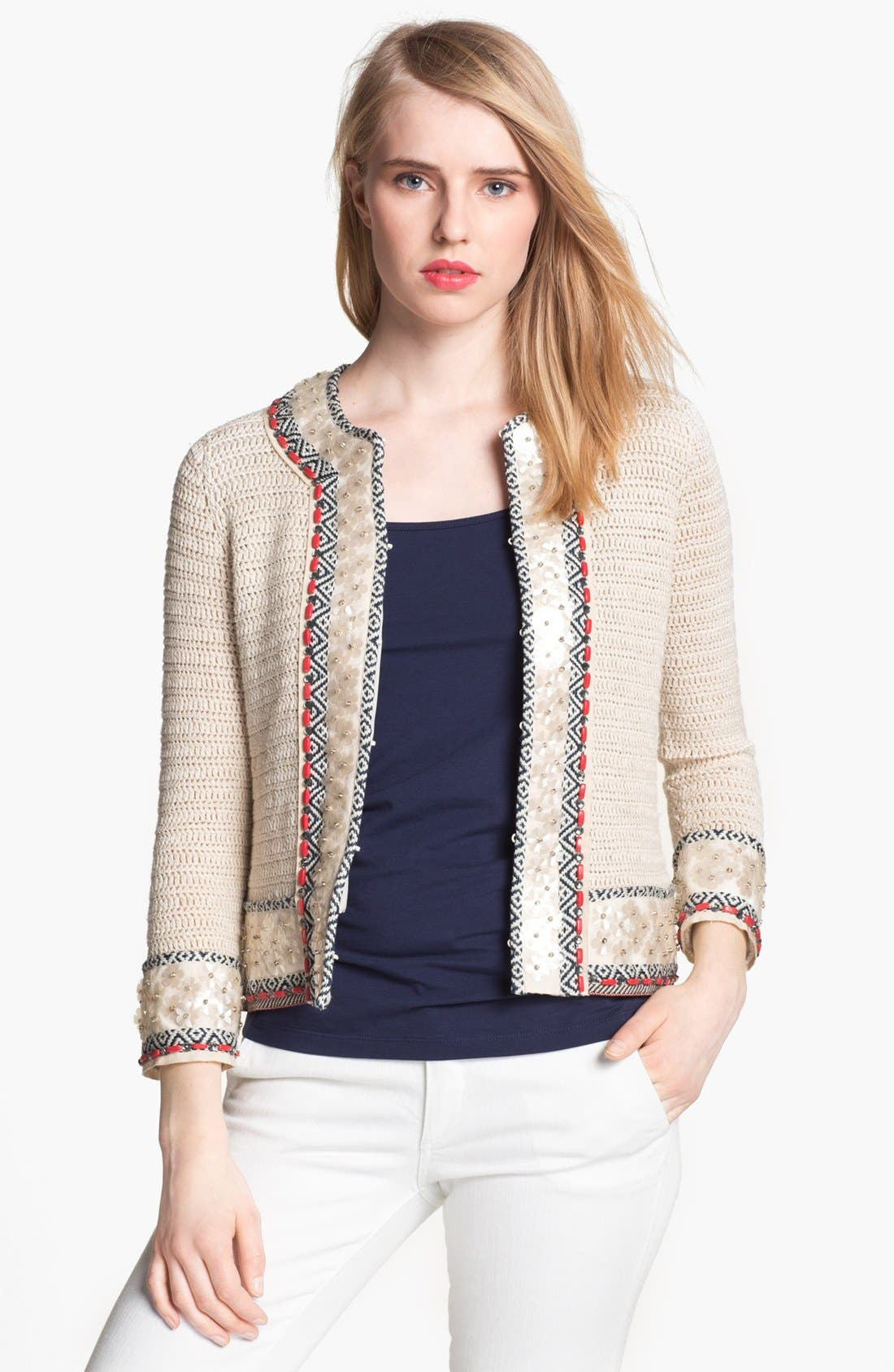 Main Image - Tory Burch 'Donovan' Embellished Jacket