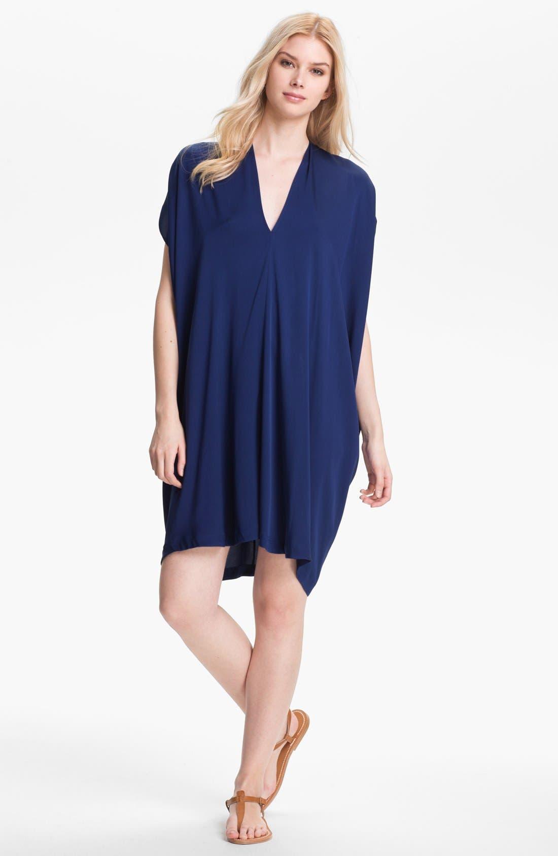 Main Image - Vince Oversized Stretch Silk Shift Dress