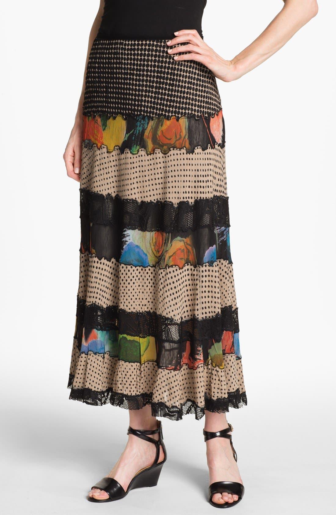 Alternate Image 1 Selected - Komarov Mix Pattern Maxi Skirt