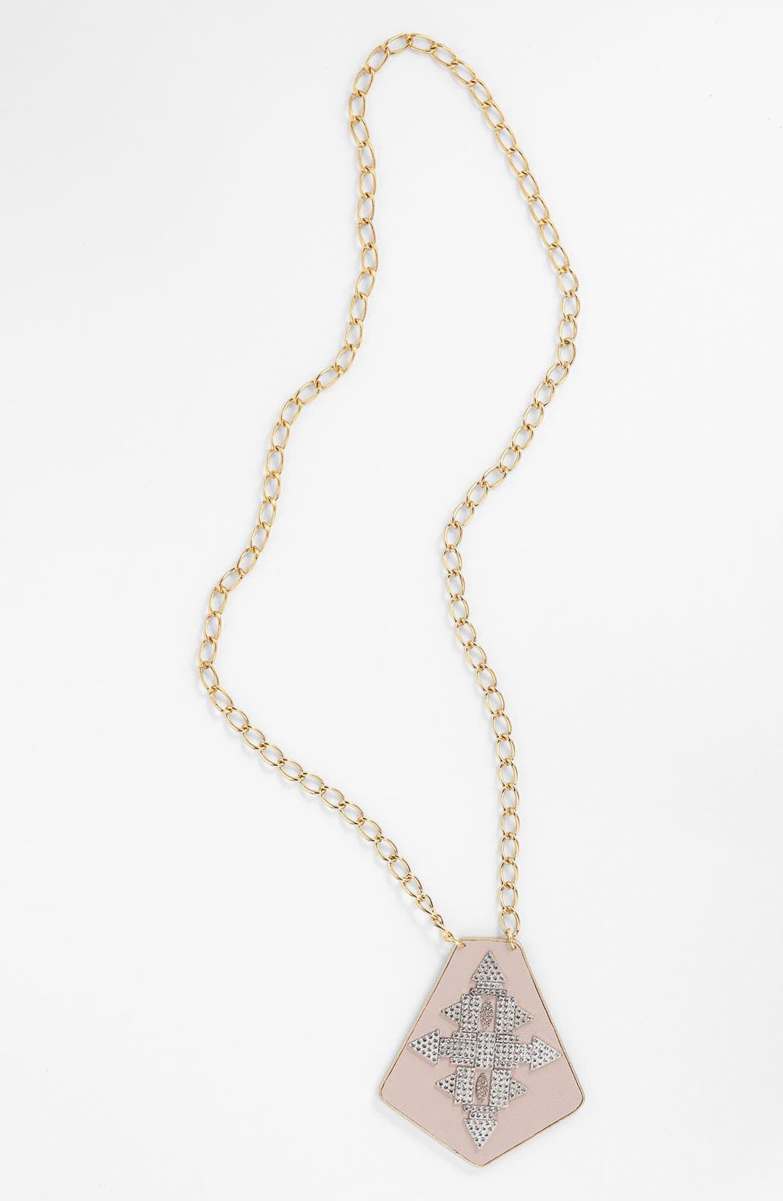 Alternate Image 1 Selected - Sandy Hyun Leather & Crystal Pendant Necklace