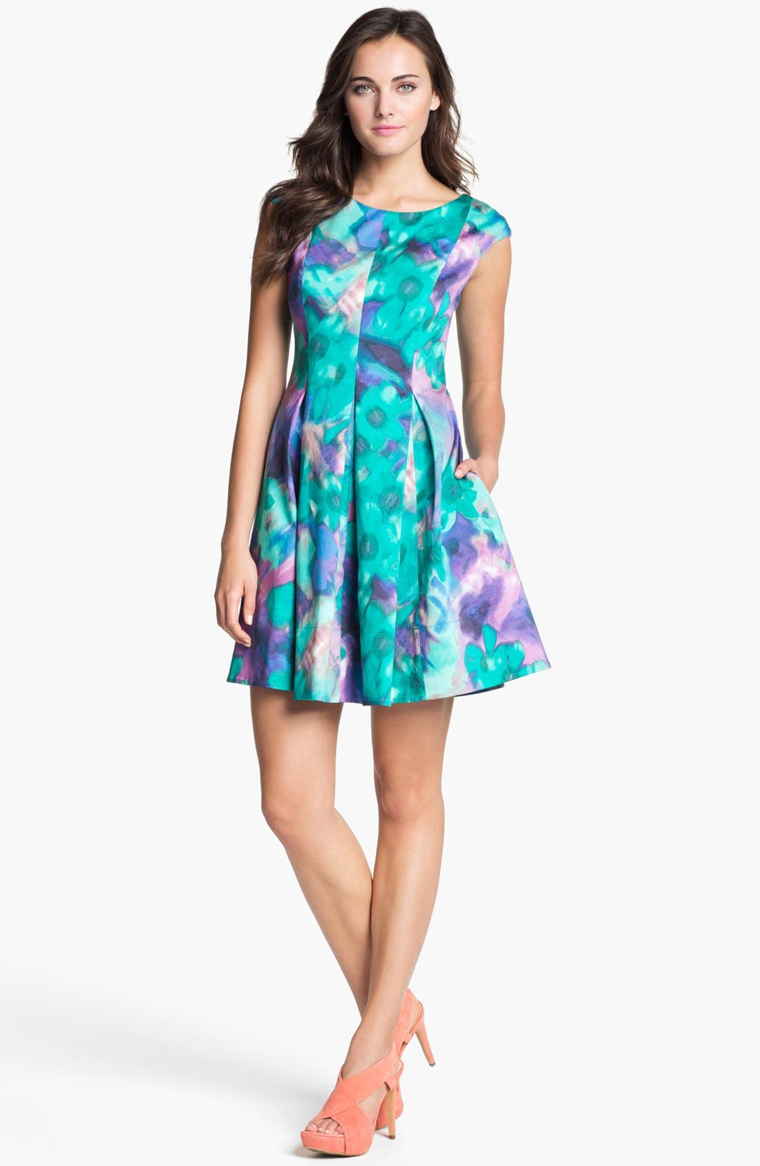 Alternate Image 1 Selected - Eliza J Print Fit & Flare Dress