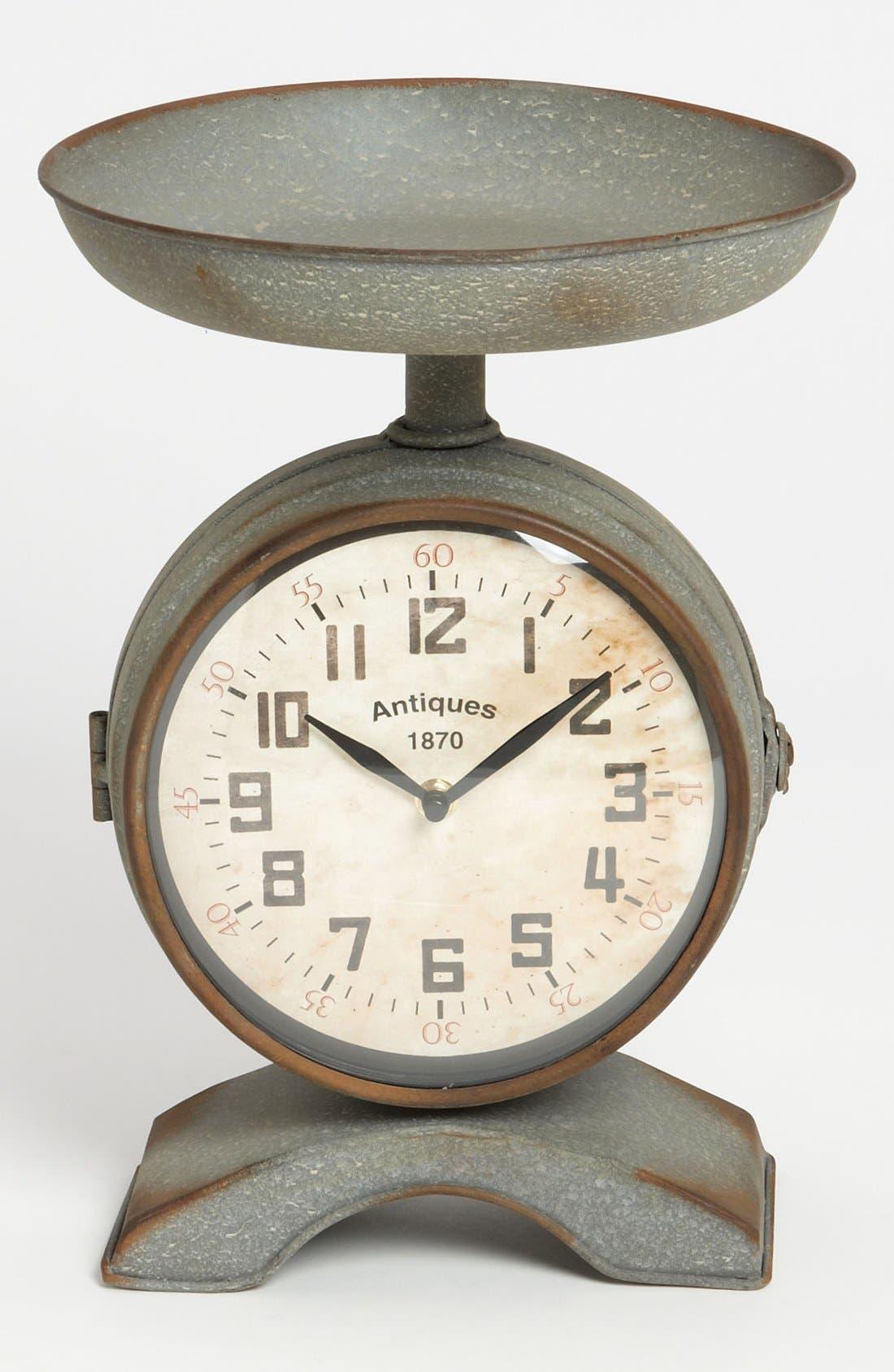 Alternate Image 1 Selected - Burnished Vintage Scale Clock