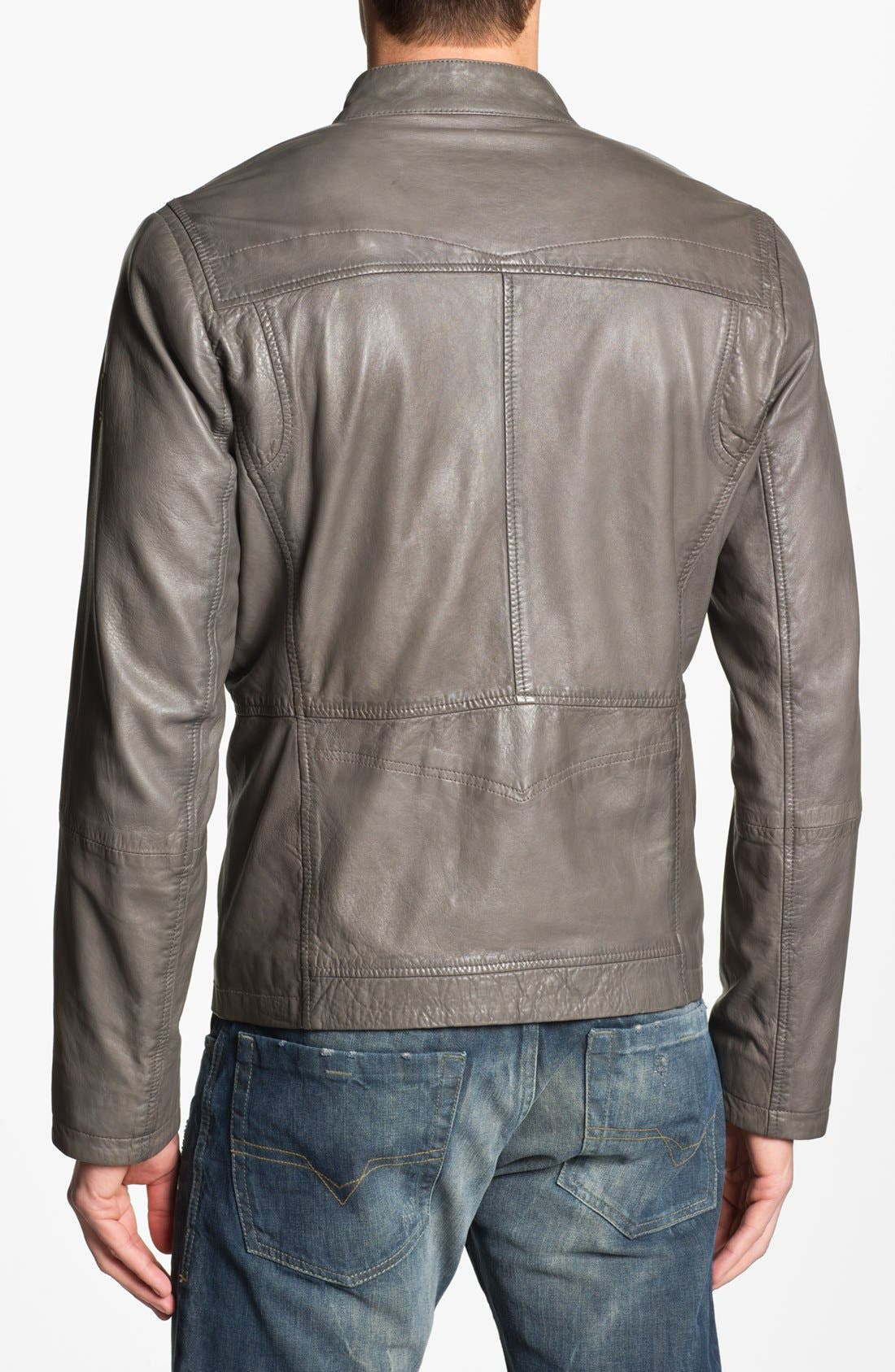 Alternate Image 2  - BOSS Orange 'Joco' Leather Jacket
