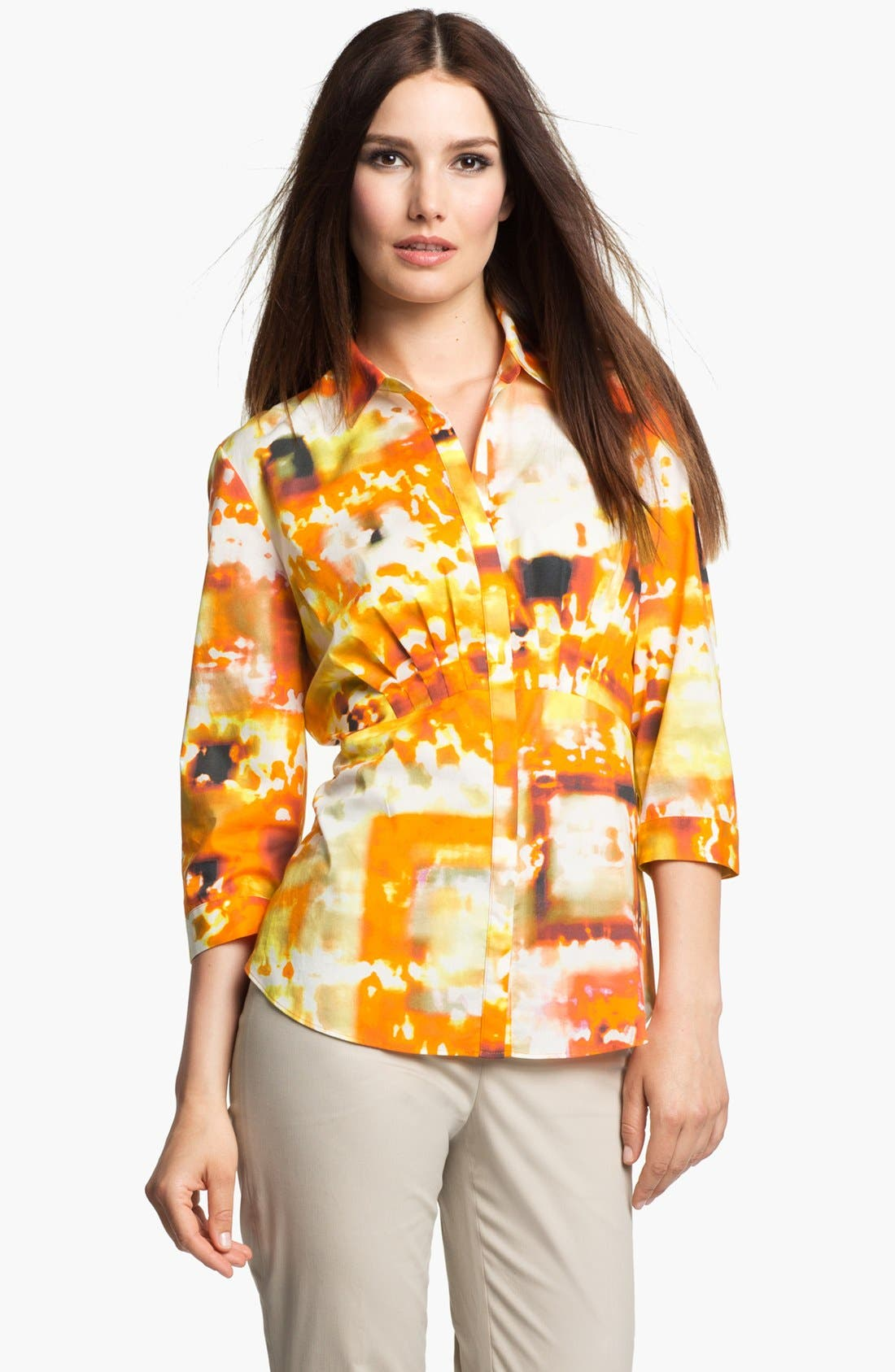 Alternate Image 1 Selected - Lafayette 148 New York 'Sabrina - Expedition Stretch' Blouse