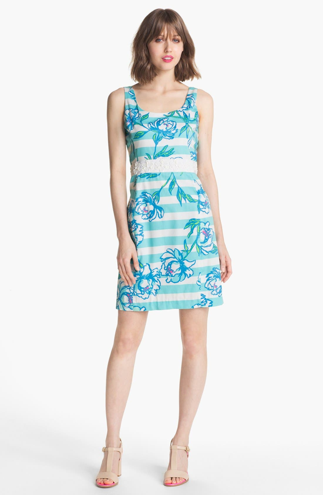 Main Image - Lilly Pulitzer® 'Serena' Mix Print Sheath Dress