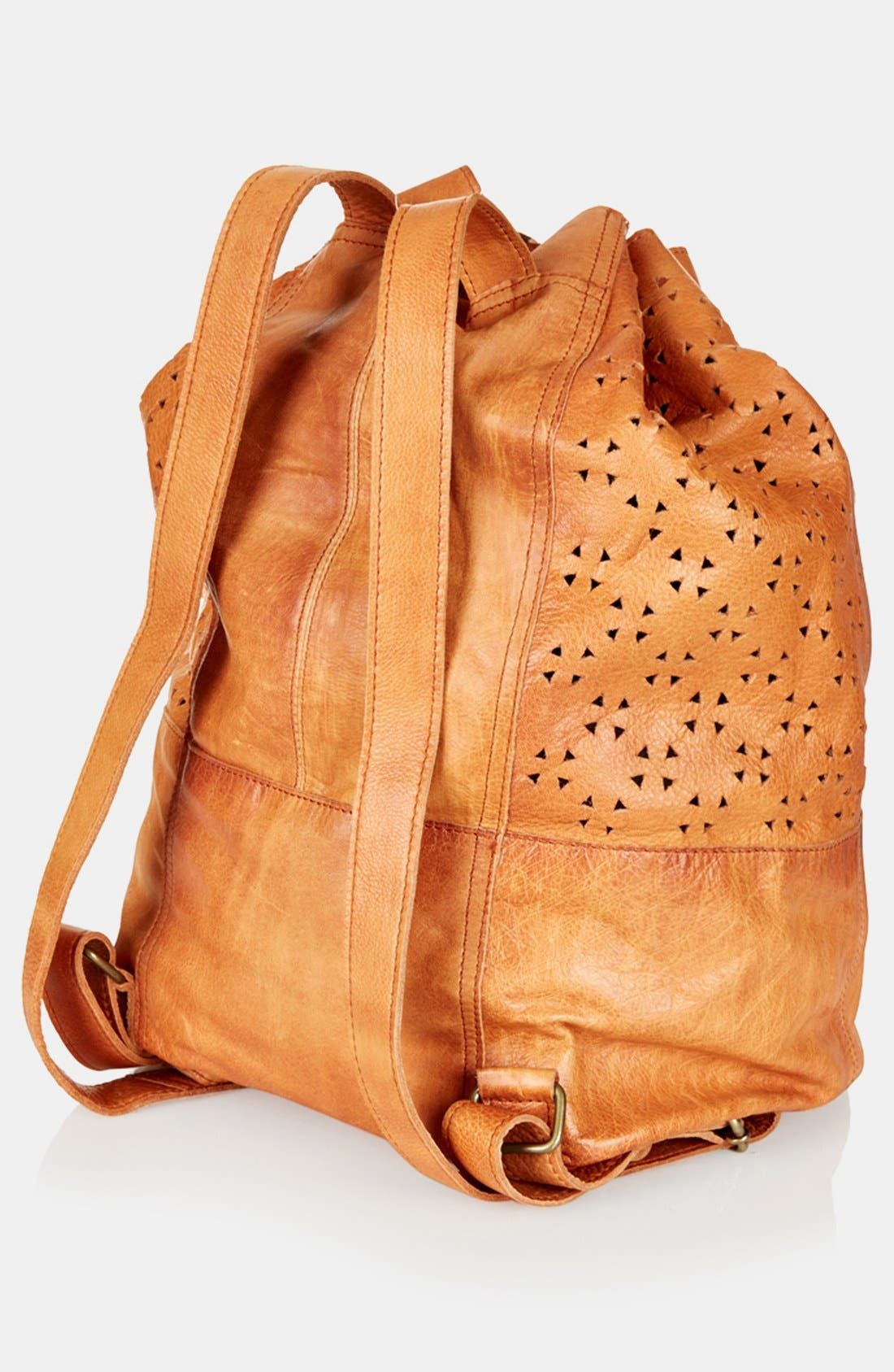 Alternate Image 4  - Topshop Perforated Leather Backpack